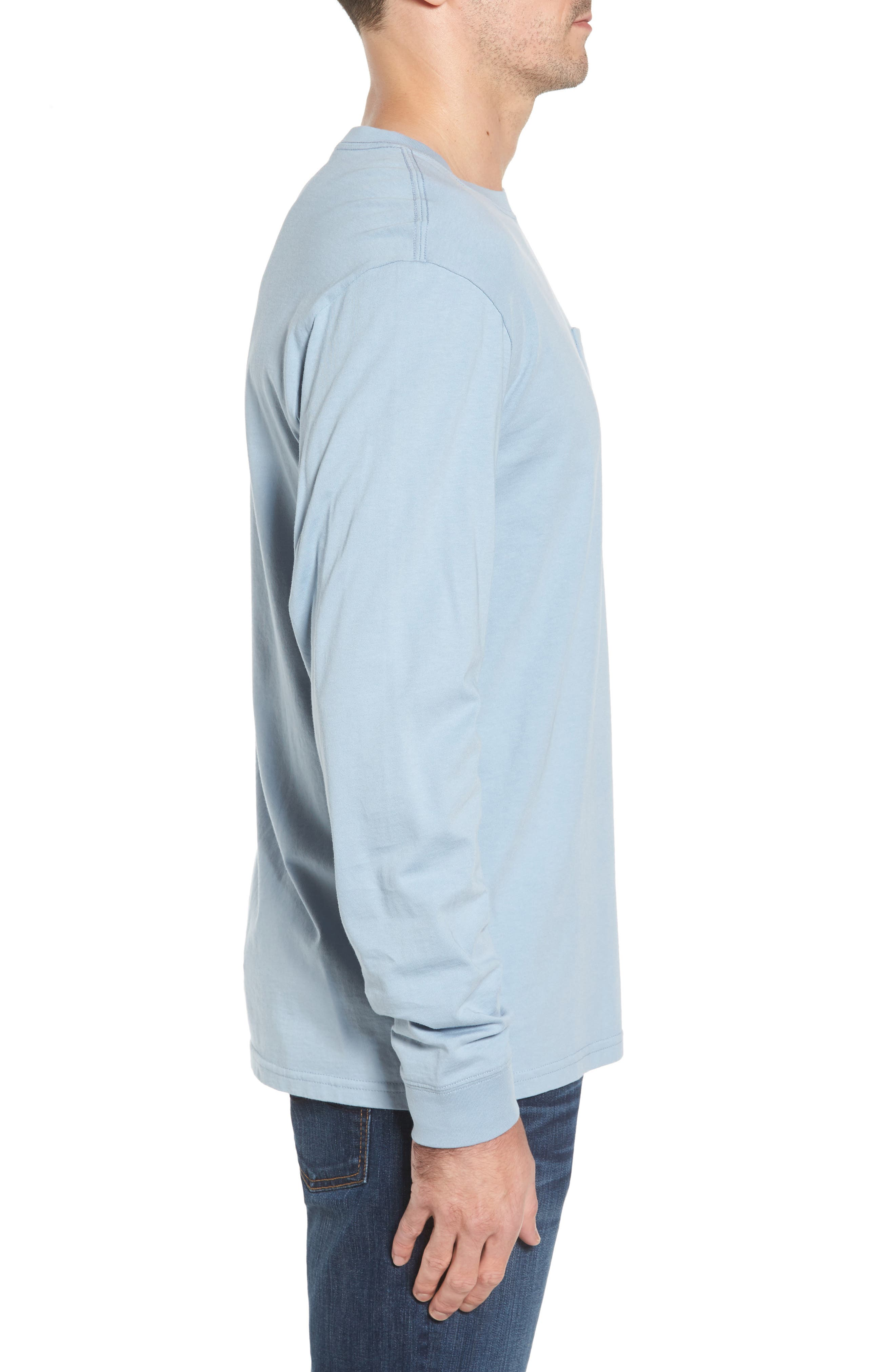 Embroidered Long Sleeve T-Shirt,                             Alternate thumbnail 3, color,                             448