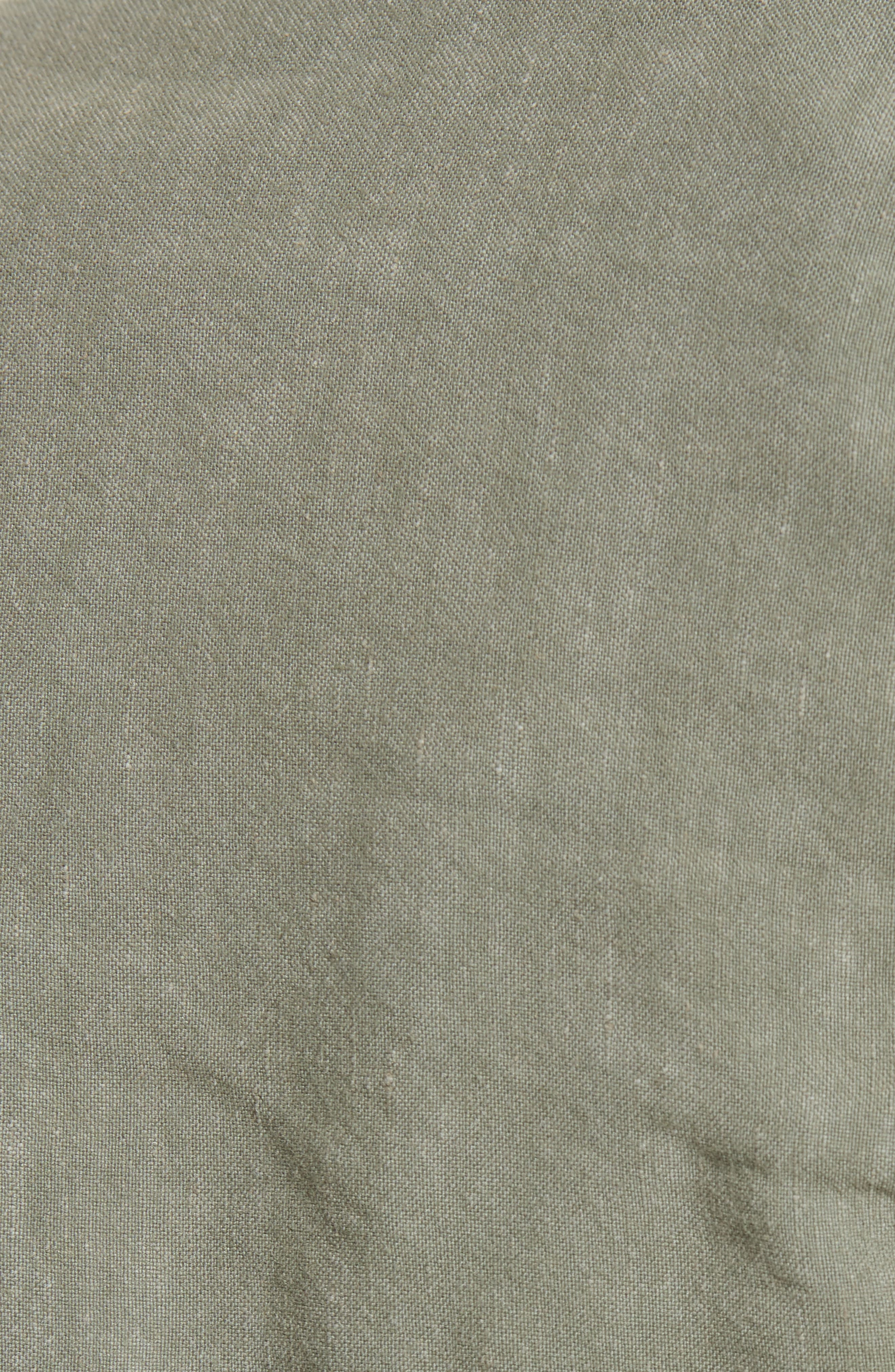Ruched Linen Bomber Jacket,                             Alternate thumbnail 6, color,                             300