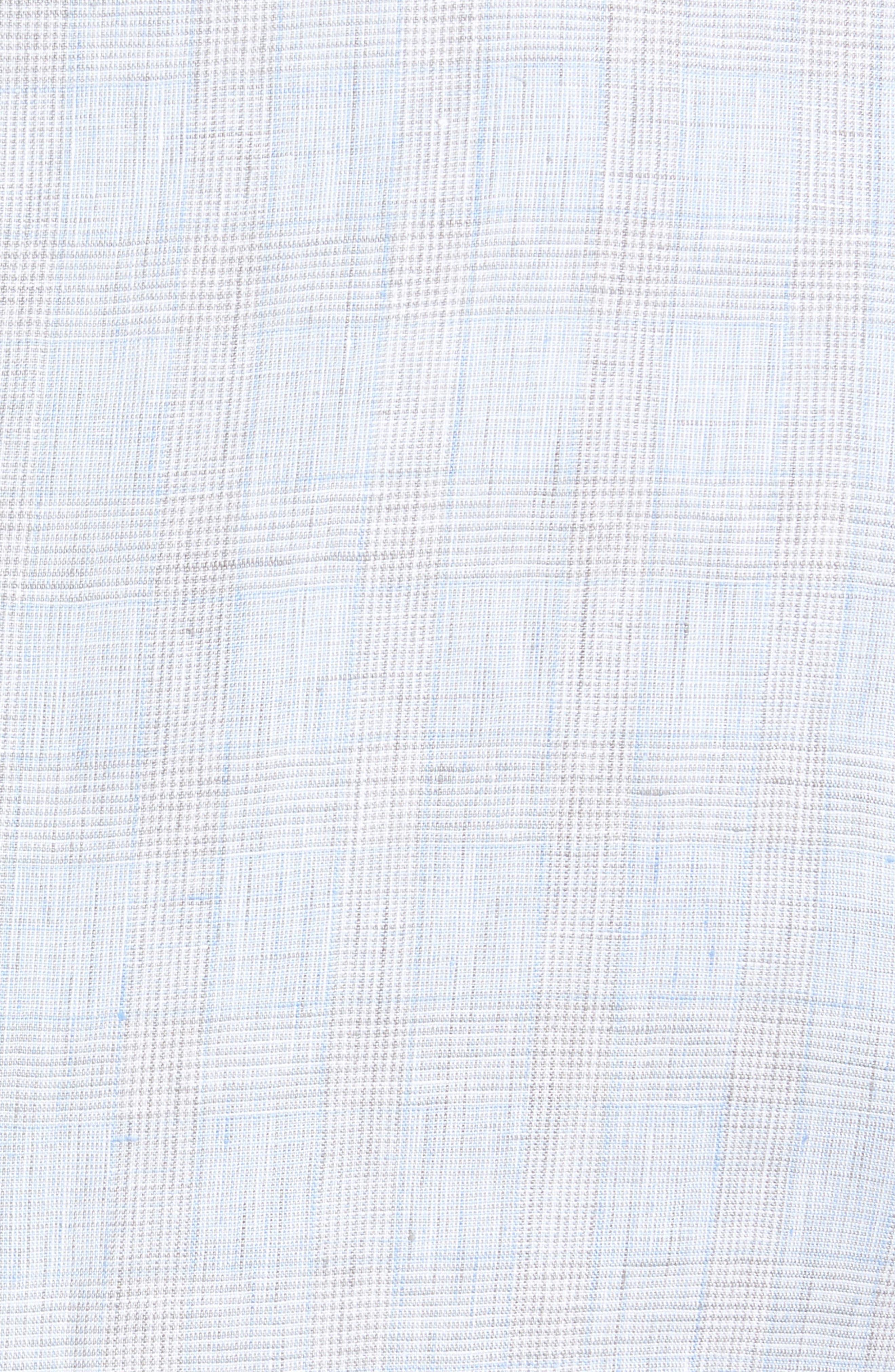 Glen Plaid Linen Sport Coat,                             Alternate thumbnail 6, color,
