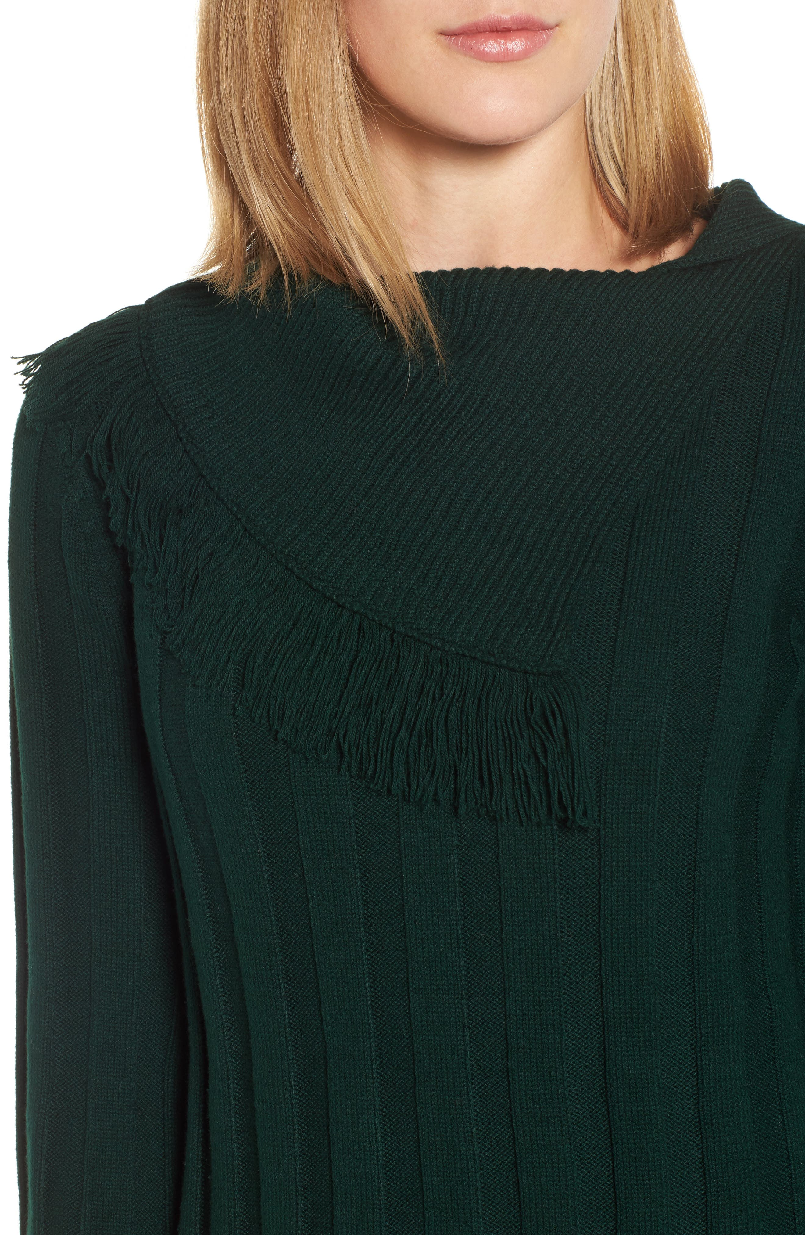 Fringe Cowl Neck Sweater,                             Alternate thumbnail 12, color,