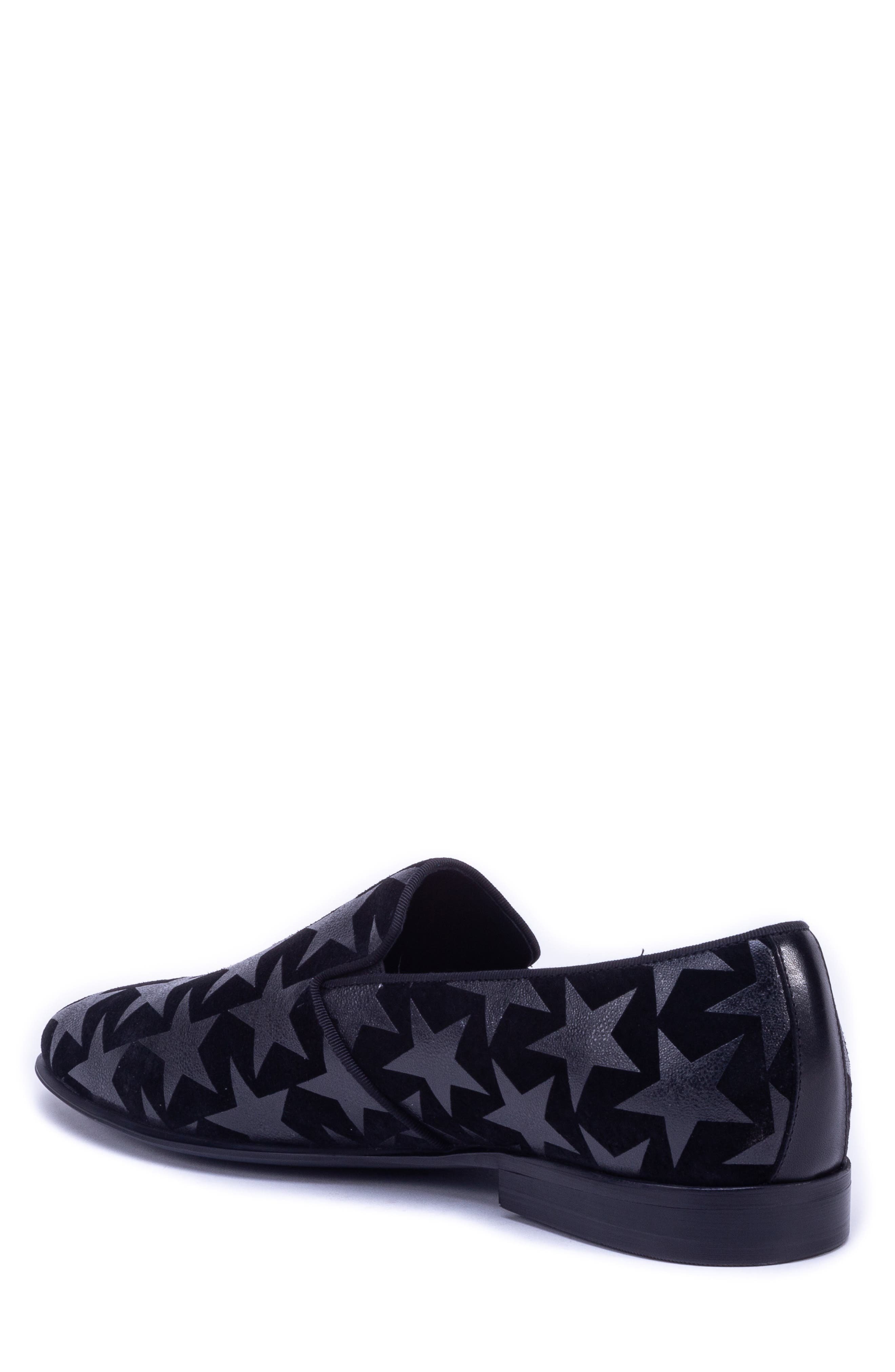 Badgley Mischka Hudson Loafer,                             Alternate thumbnail 2, color,                             BLACK SUEDE