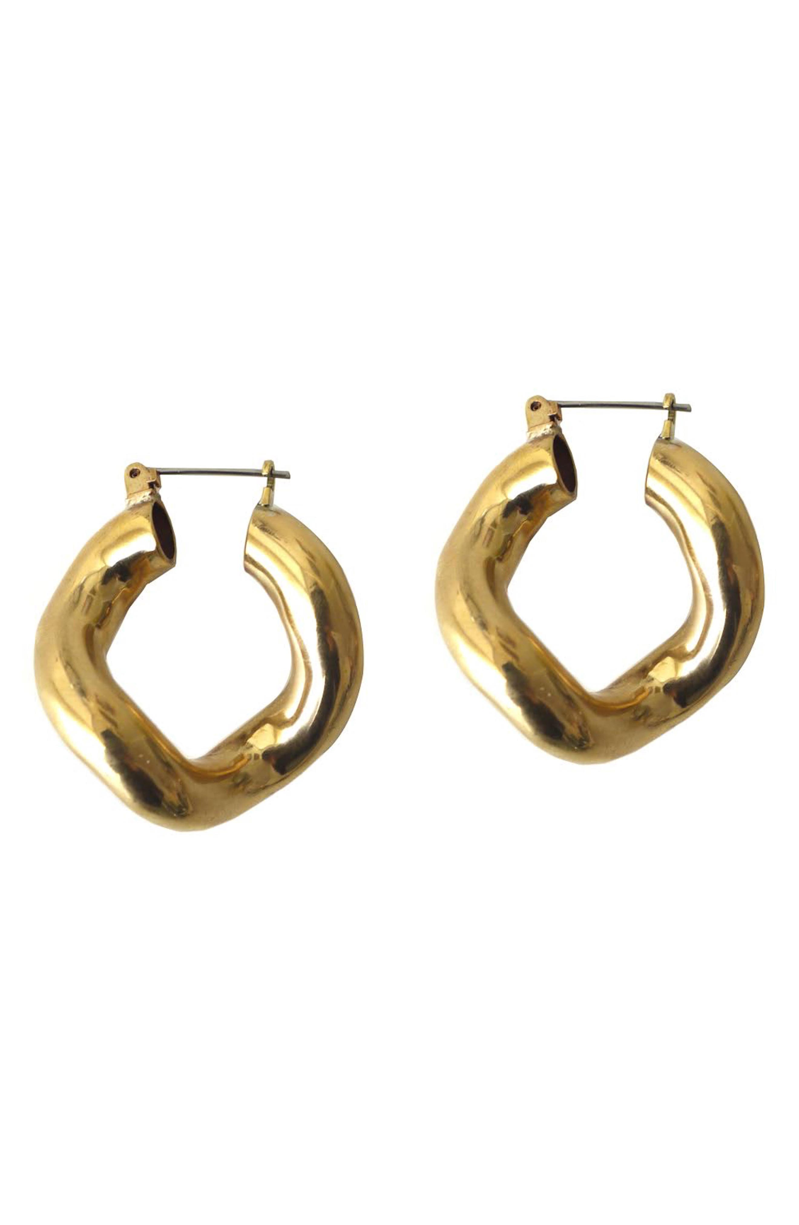 Anima Earrings,                             Main thumbnail 1, color,                             BRASS
