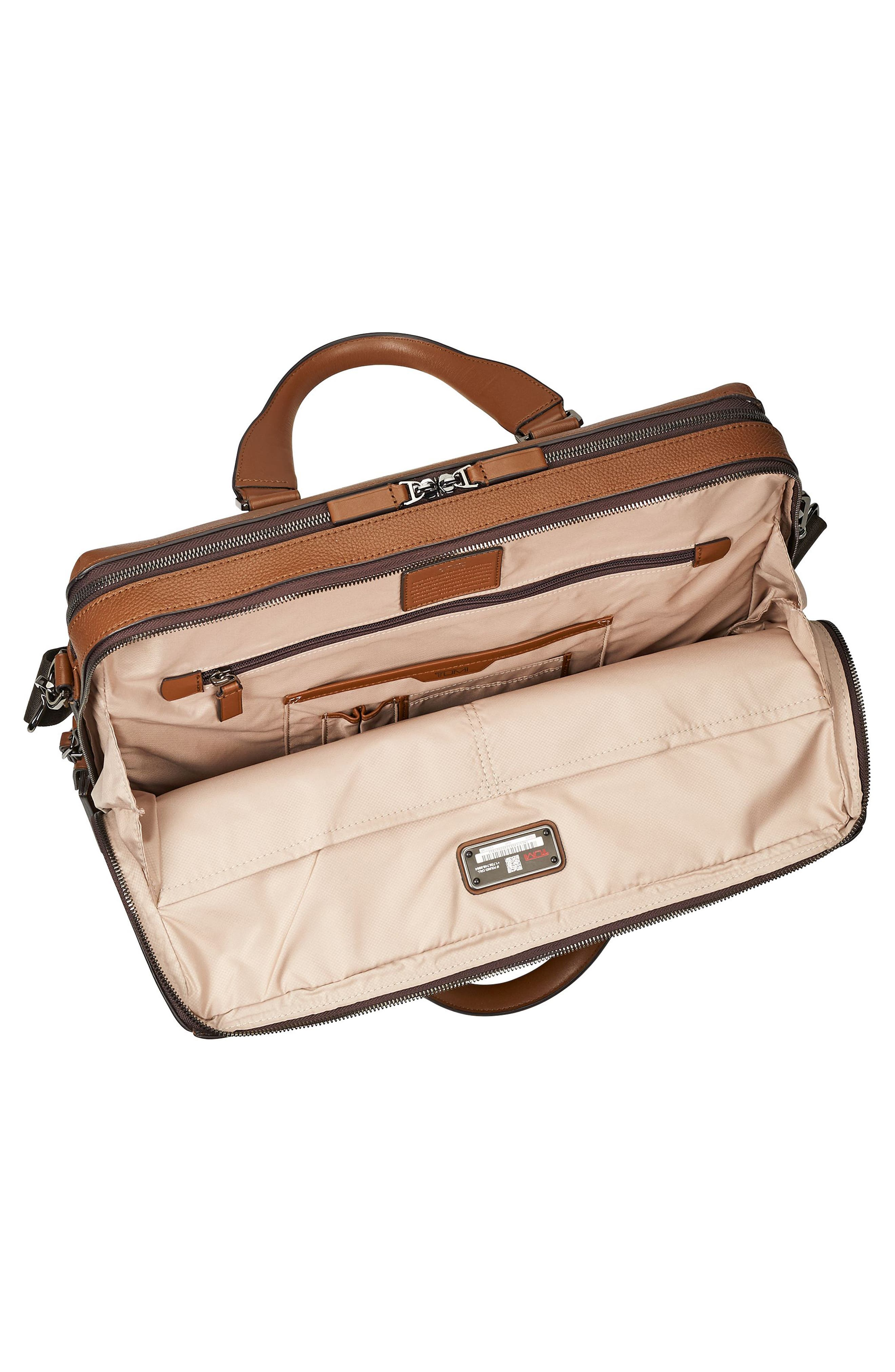 Harrison - Horton Briefcase,                             Alternate thumbnail 3, color,                             UMBER PEBBLED