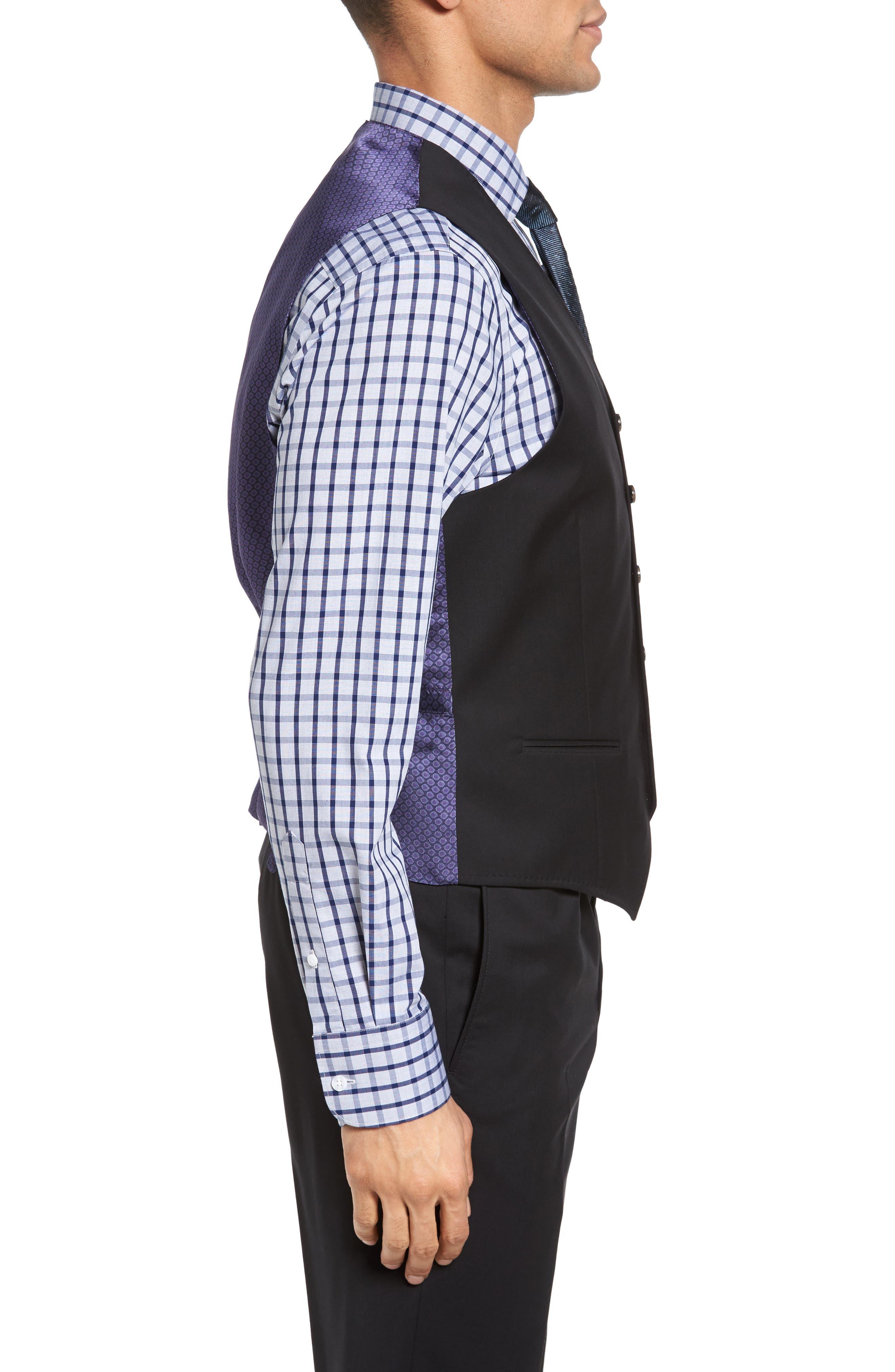 Jones Trim Fit Wool Vest,                             Alternate thumbnail 3, color,                             001
