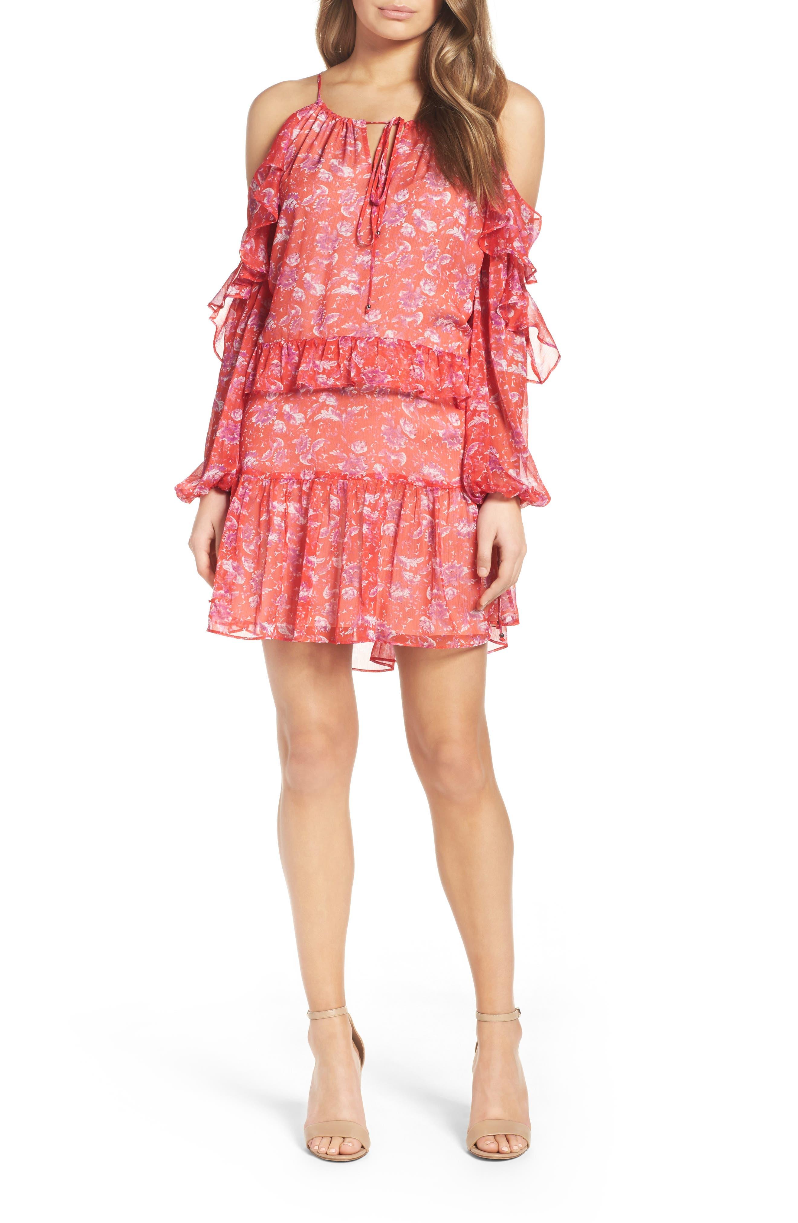 Cold Shoulder Dress,                             Main thumbnail 1, color,                             610