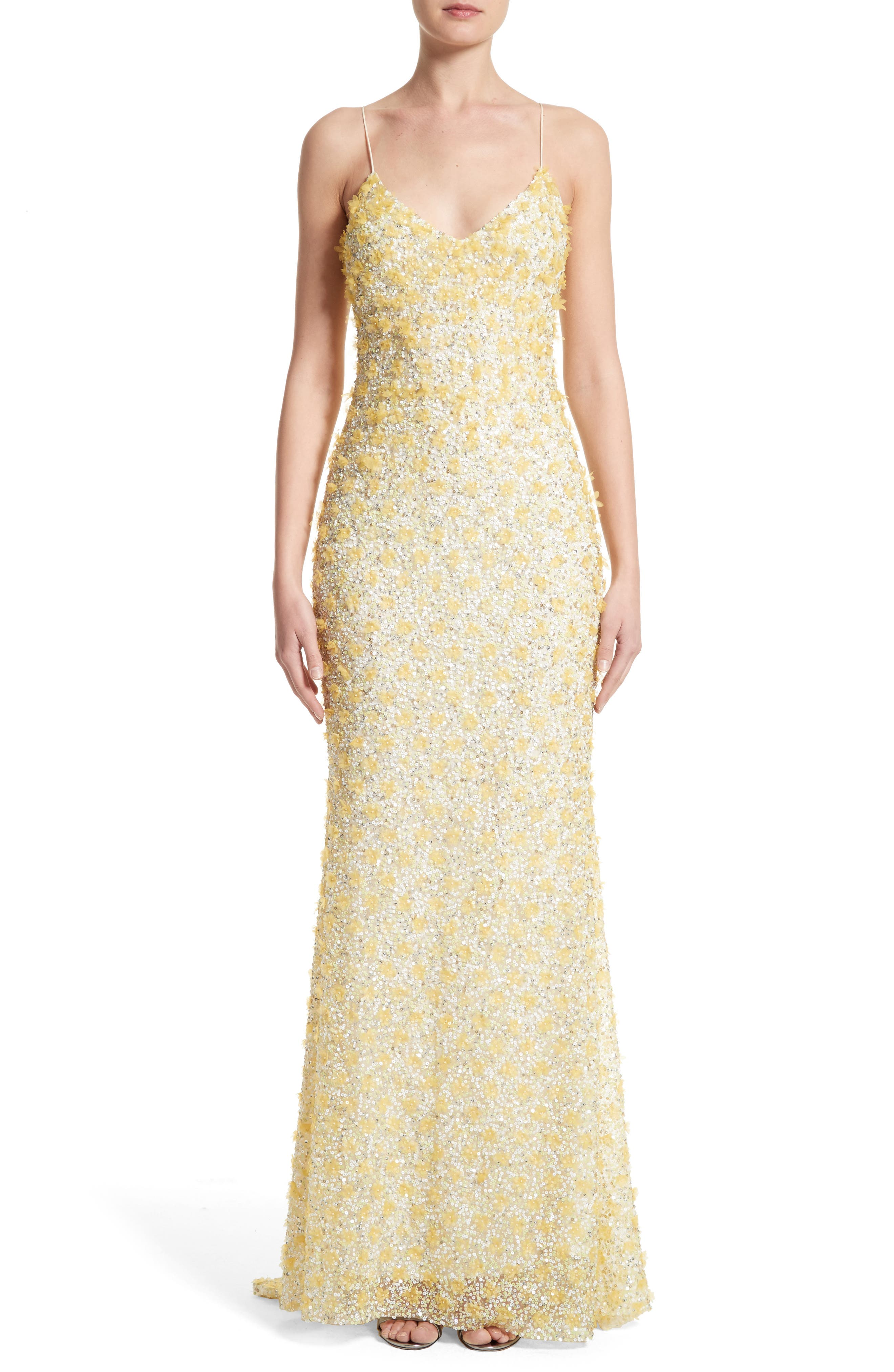 Badgley Mischka Couture Embellished Gown,                             Main thumbnail 1, color,                             700