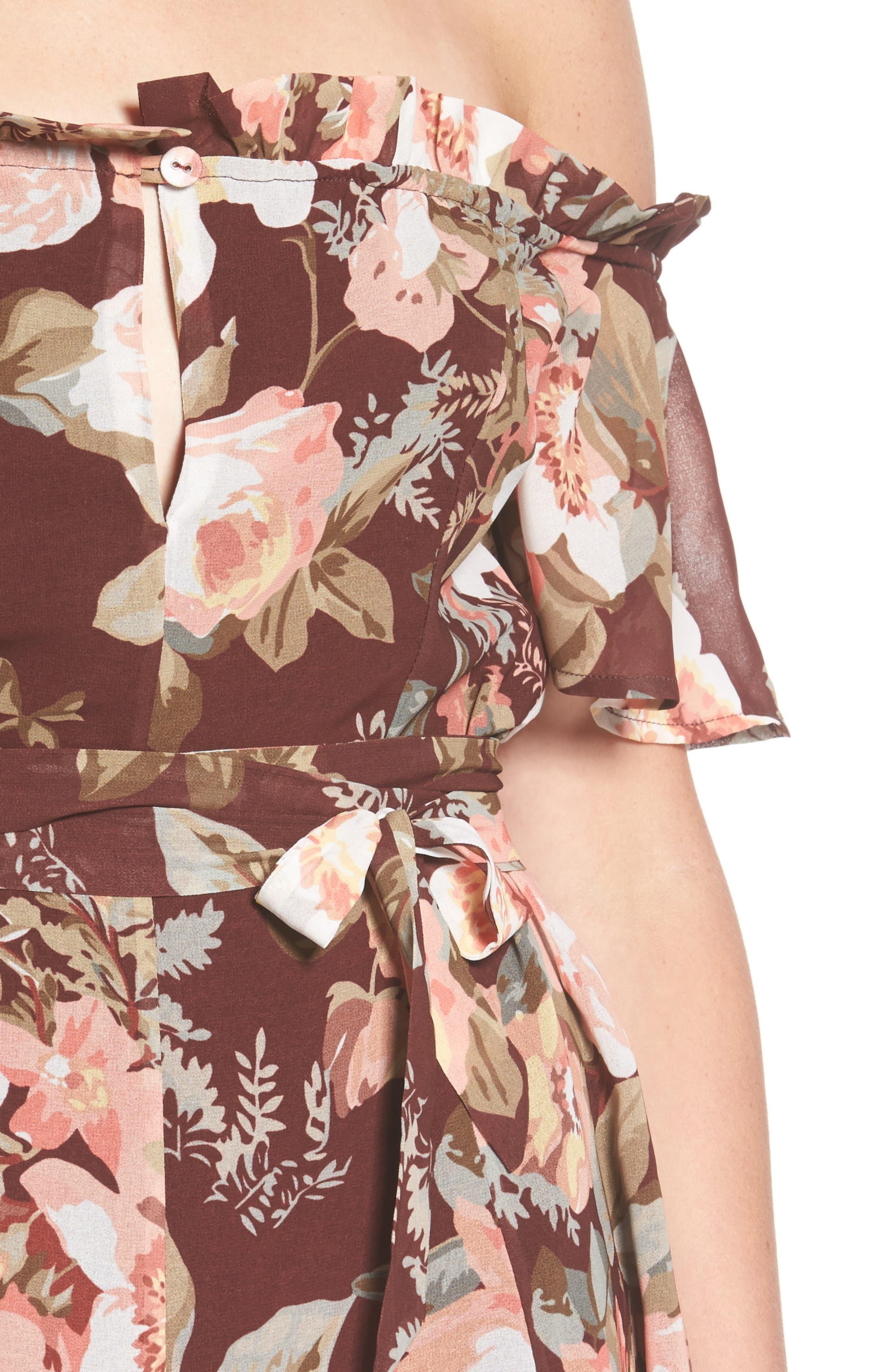 Deluth Off the Shoulder Dress,                             Alternate thumbnail 8, color,
