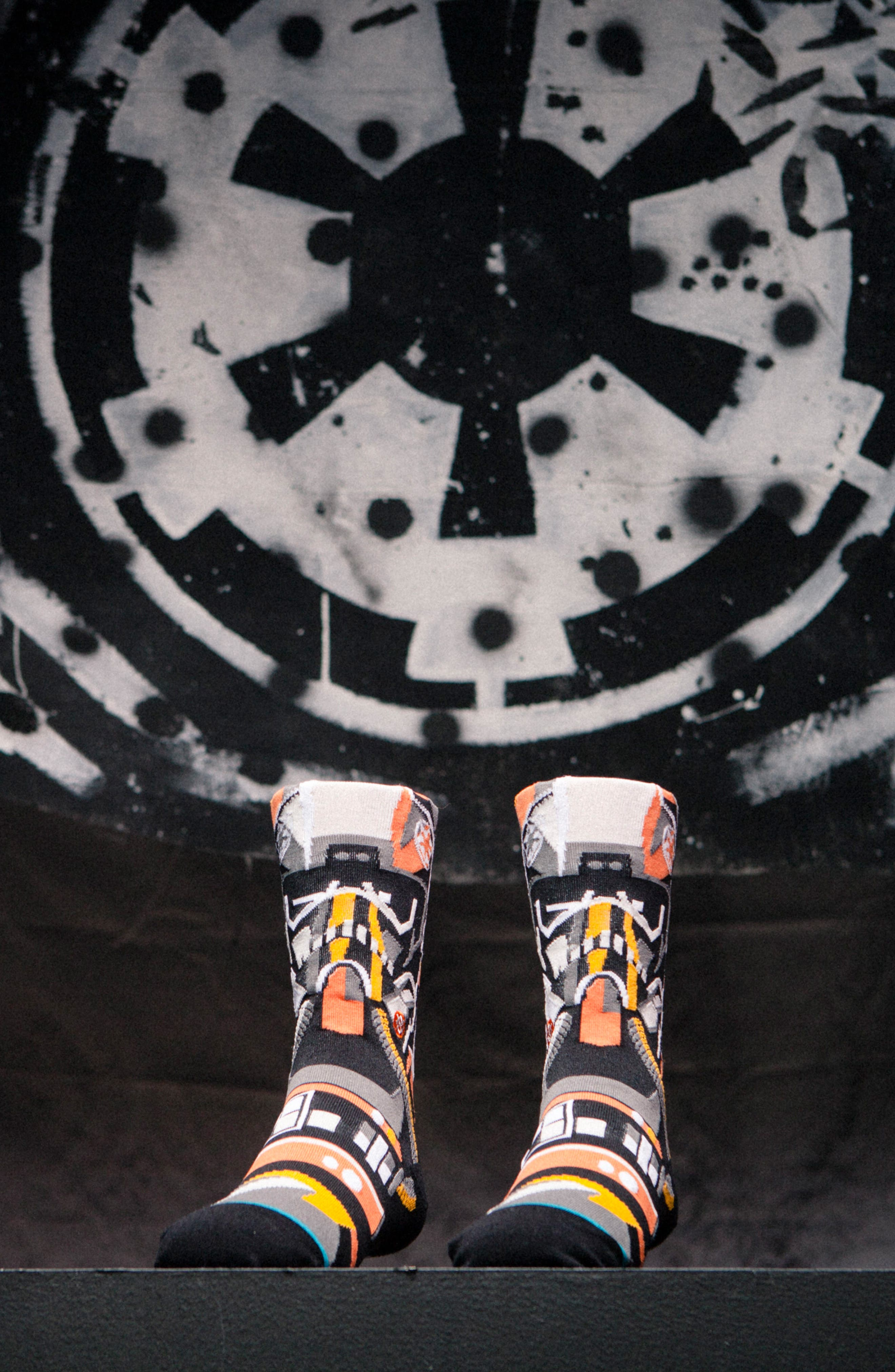 x Star Wars<sup>™</sup> Pilot Mosaic Socks,                             Alternate thumbnail 5, color,
