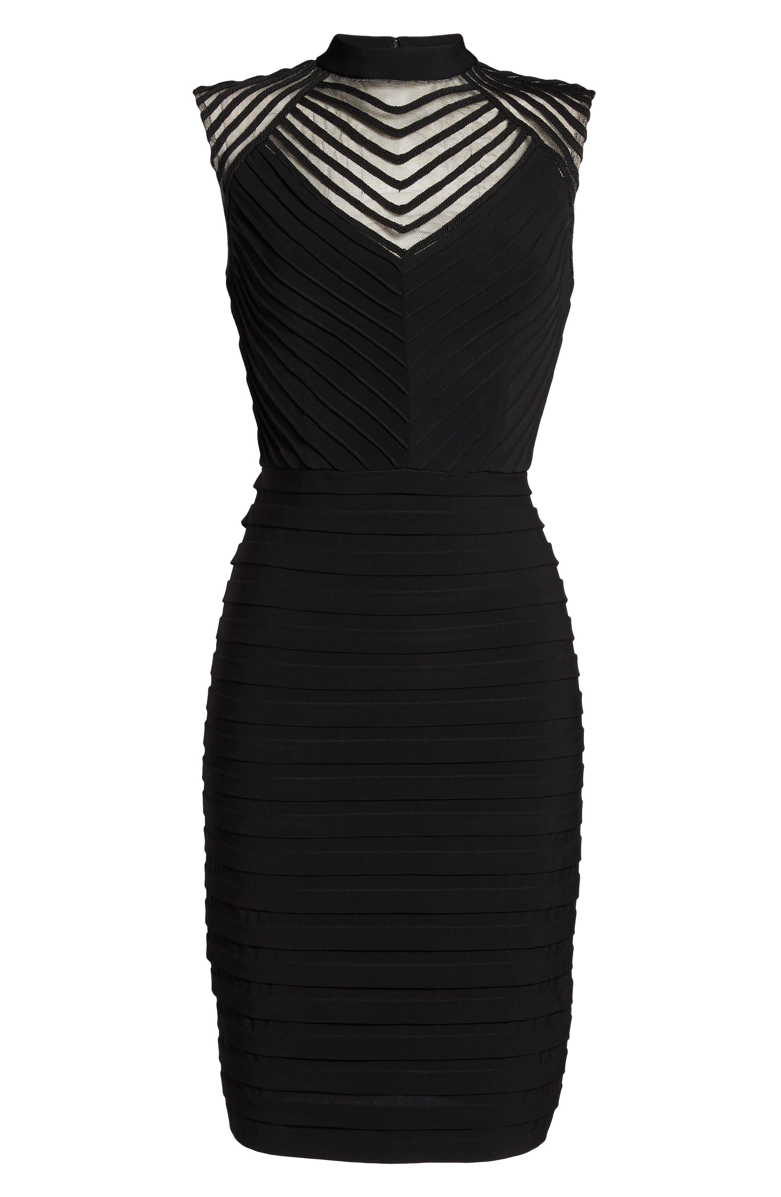Banded Sheath Dress,                             Alternate thumbnail 6, color,                             002