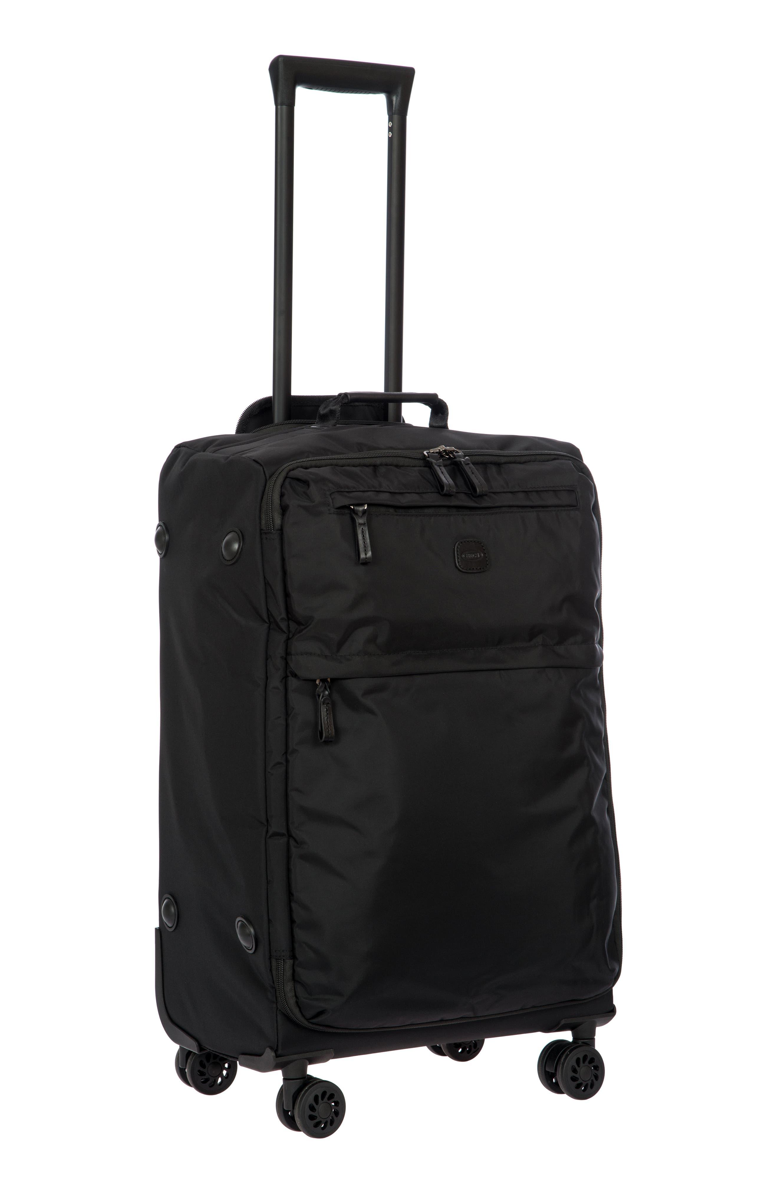 X-Bag 25-Inch Spinner Suitcase,                             Alternate thumbnail 6, color,                             BLACK/ BLACK