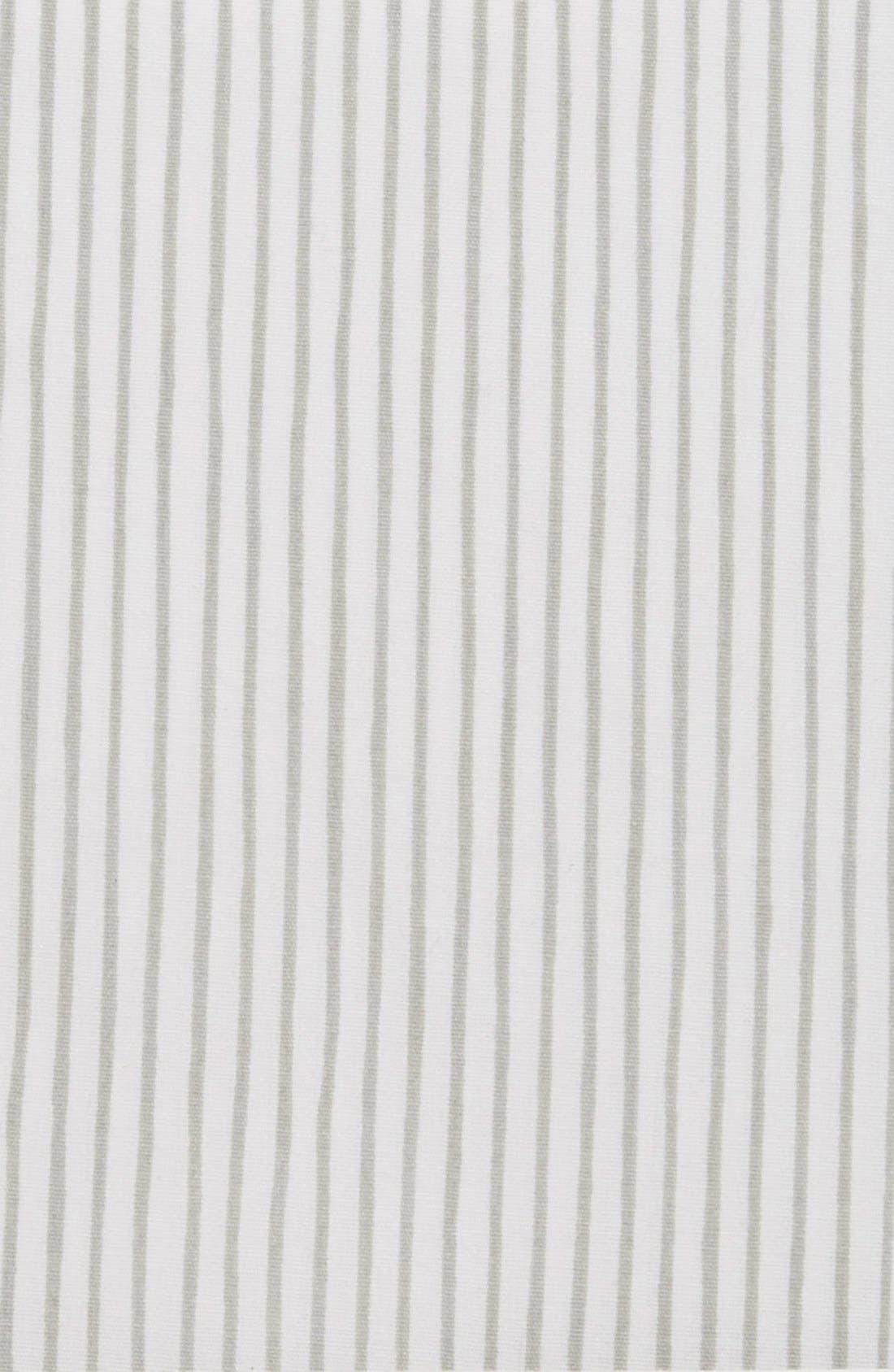 Pencil Stripe Crib Sheet,                             Alternate thumbnail 2, color,                             GREY