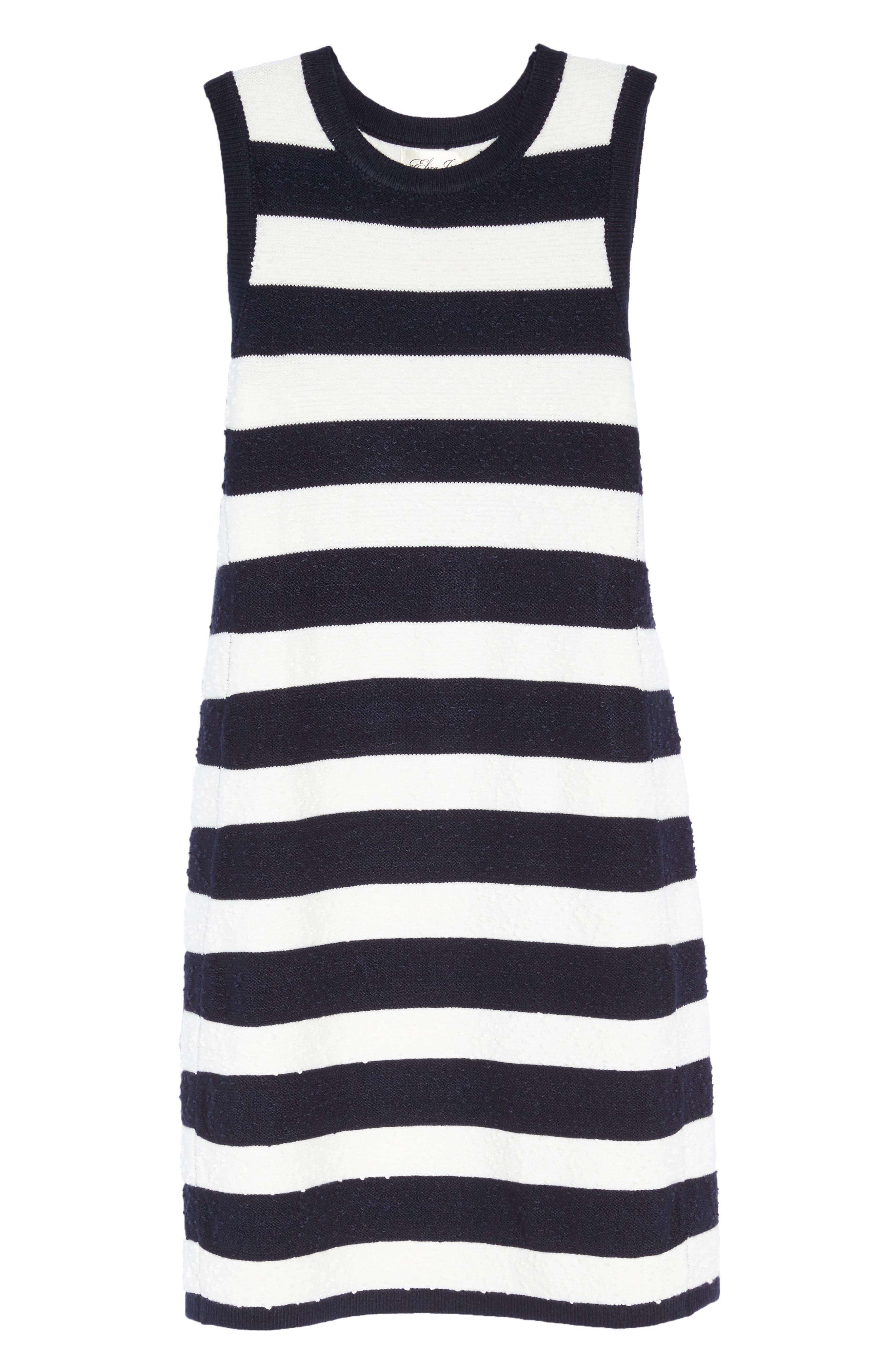 Stripe Sweater Dress,                             Alternate thumbnail 6, color,