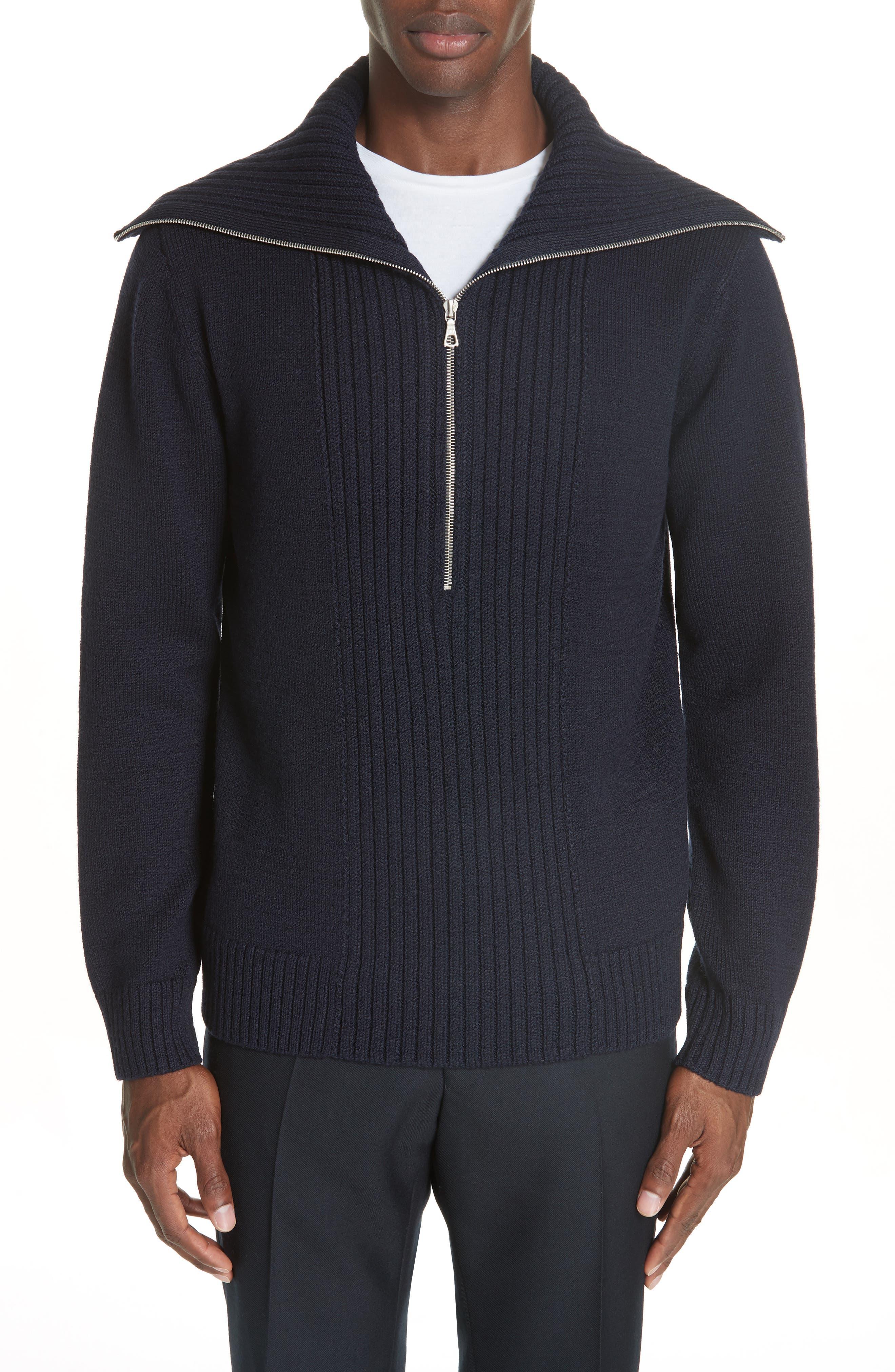 Mikhos Half Zip Sweater,                             Main thumbnail 1, color,                             NAVY