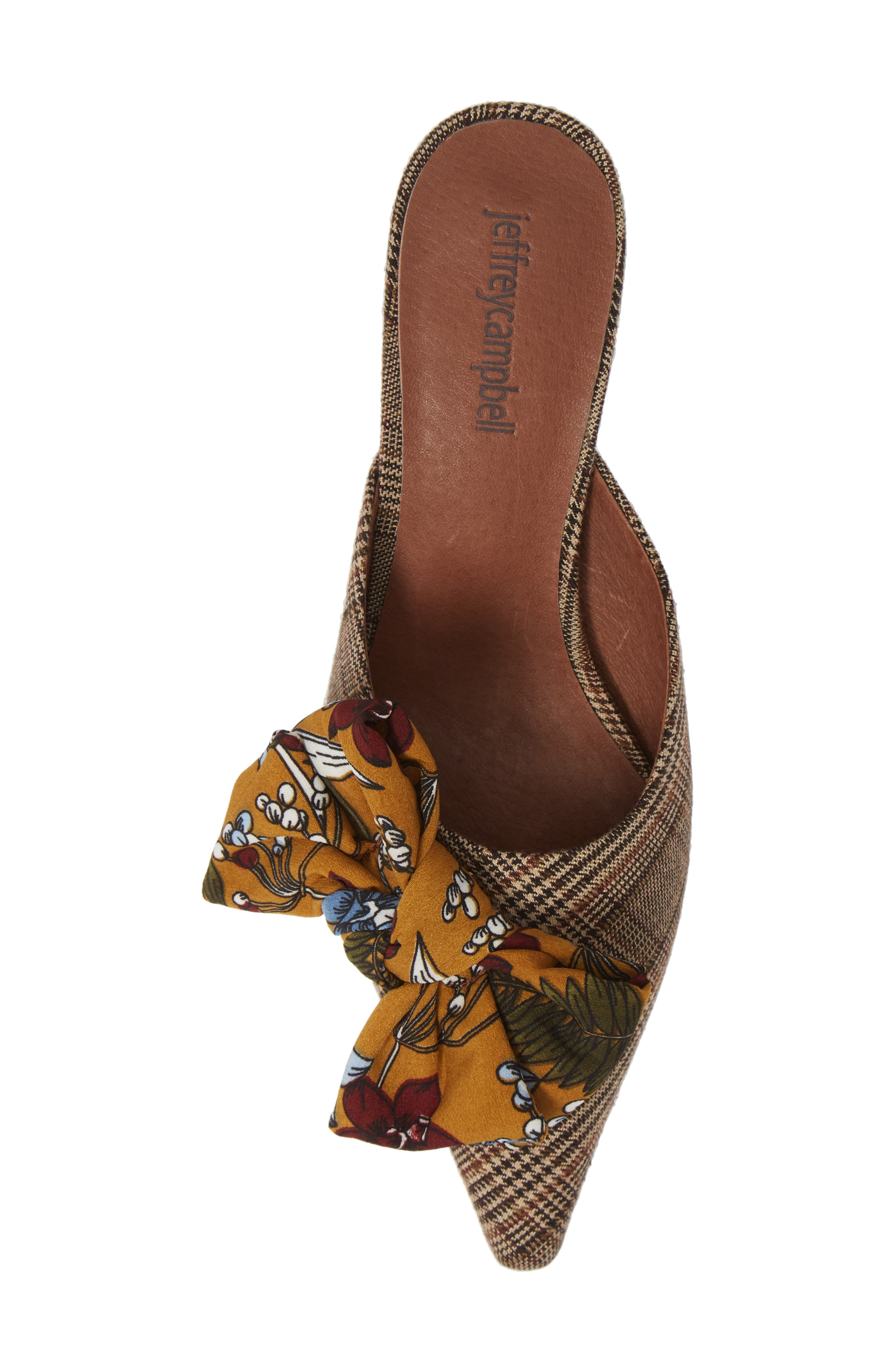 Adorn Pointy Toe Mule,                             Alternate thumbnail 5, color,                             MUSTARD/ NAVY FLORAL MULTI