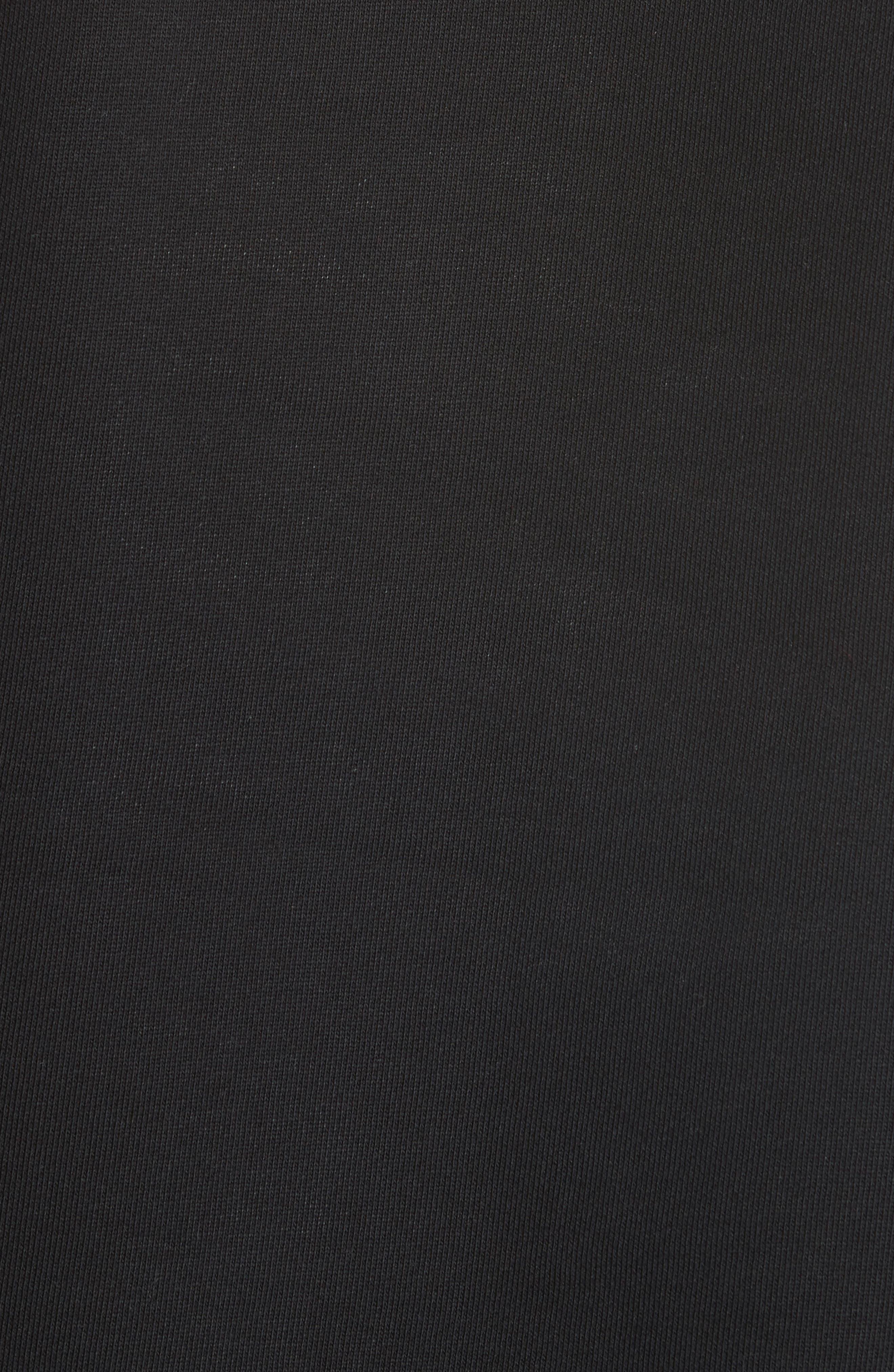 Maglia Big Bell Crewneck Sweatshirt,                             Alternate thumbnail 5, color,                             BLACK