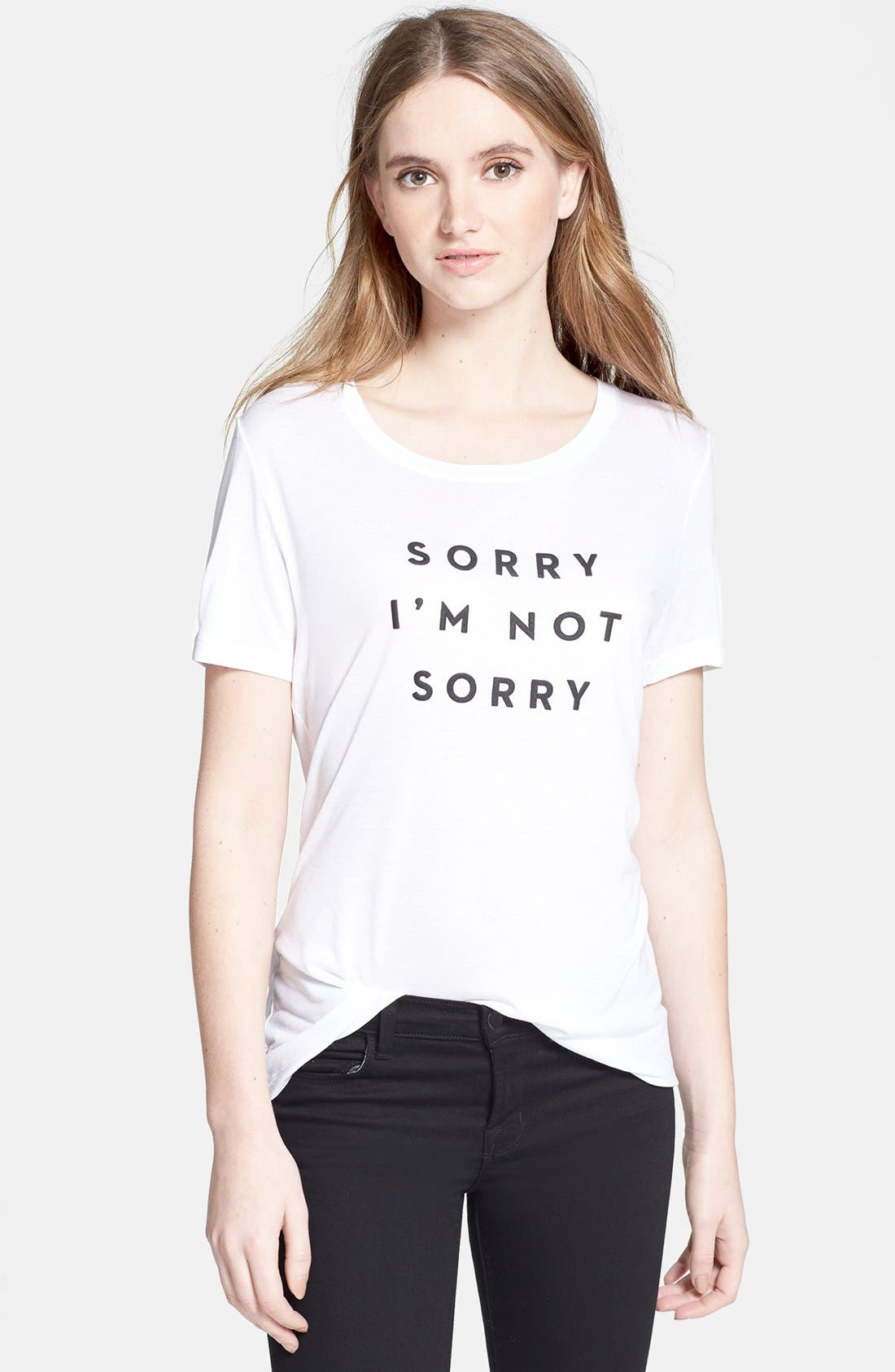 'Sorry I'm Not Sorry' Tee, Main, color, 100