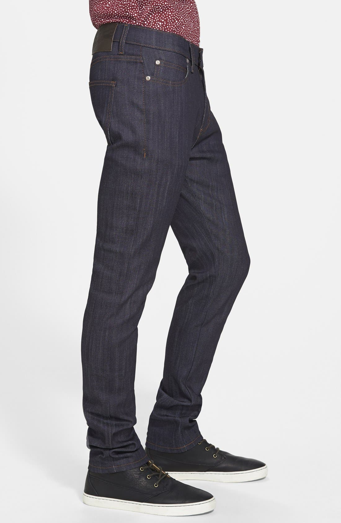 'Stacked Guy' Skinny Fit Jeans,                             Alternate thumbnail 4, color,                             401