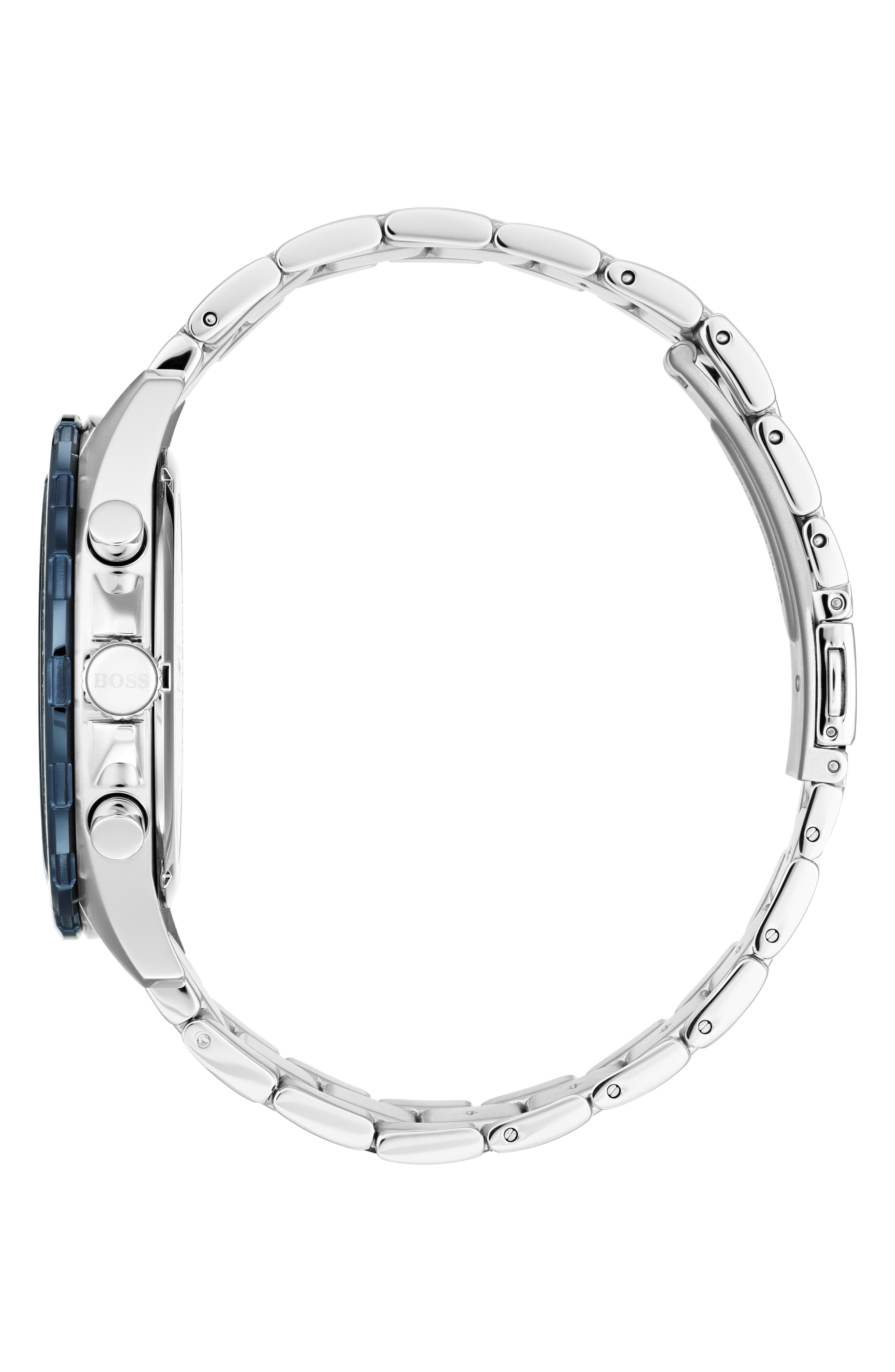 Intensity Chronograph Bracelet Watch, 44mm,                             Alternate thumbnail 3, color,                             BLUE