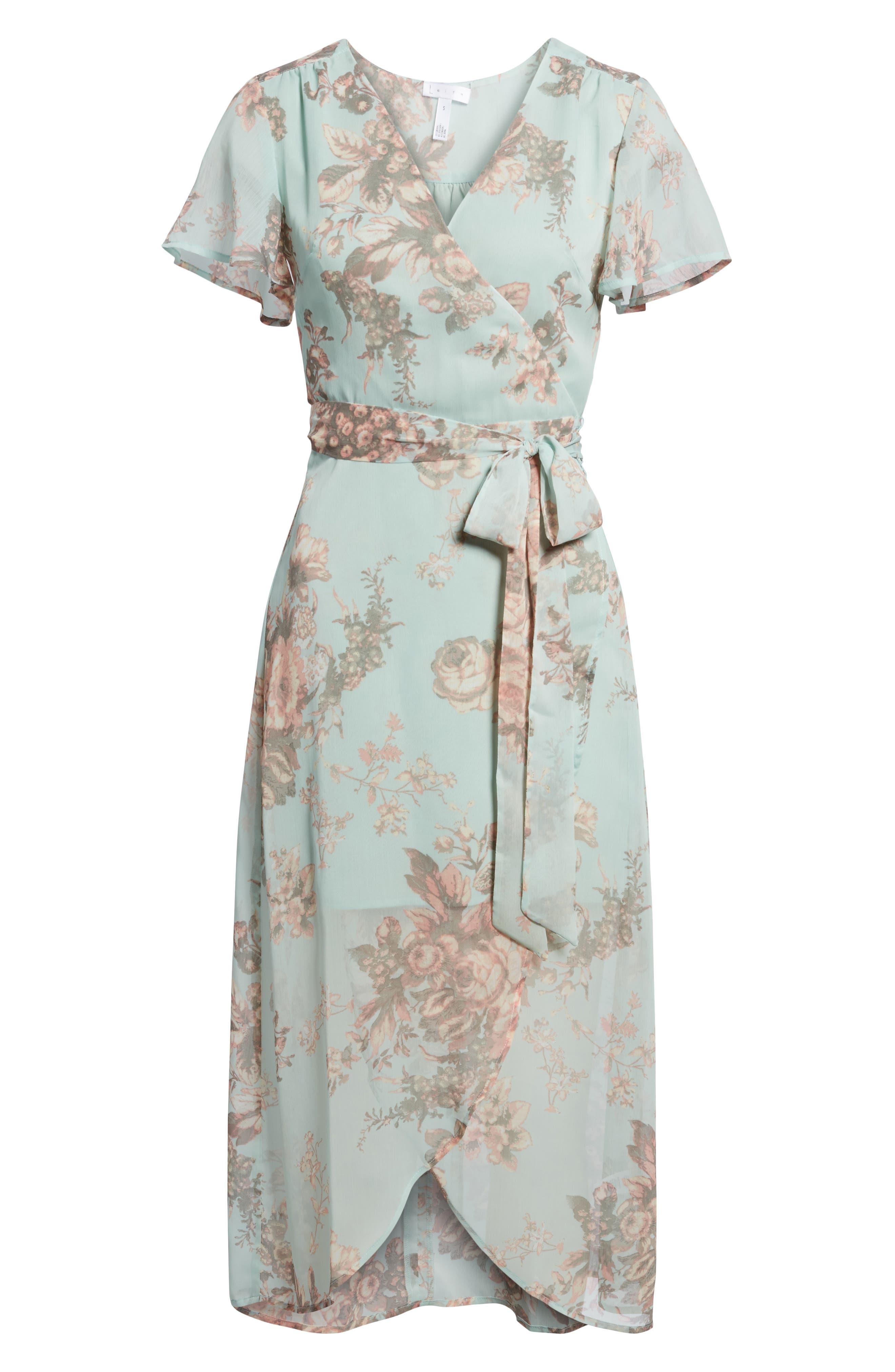 Wrap Midi Dress,                             Alternate thumbnail 6, color,