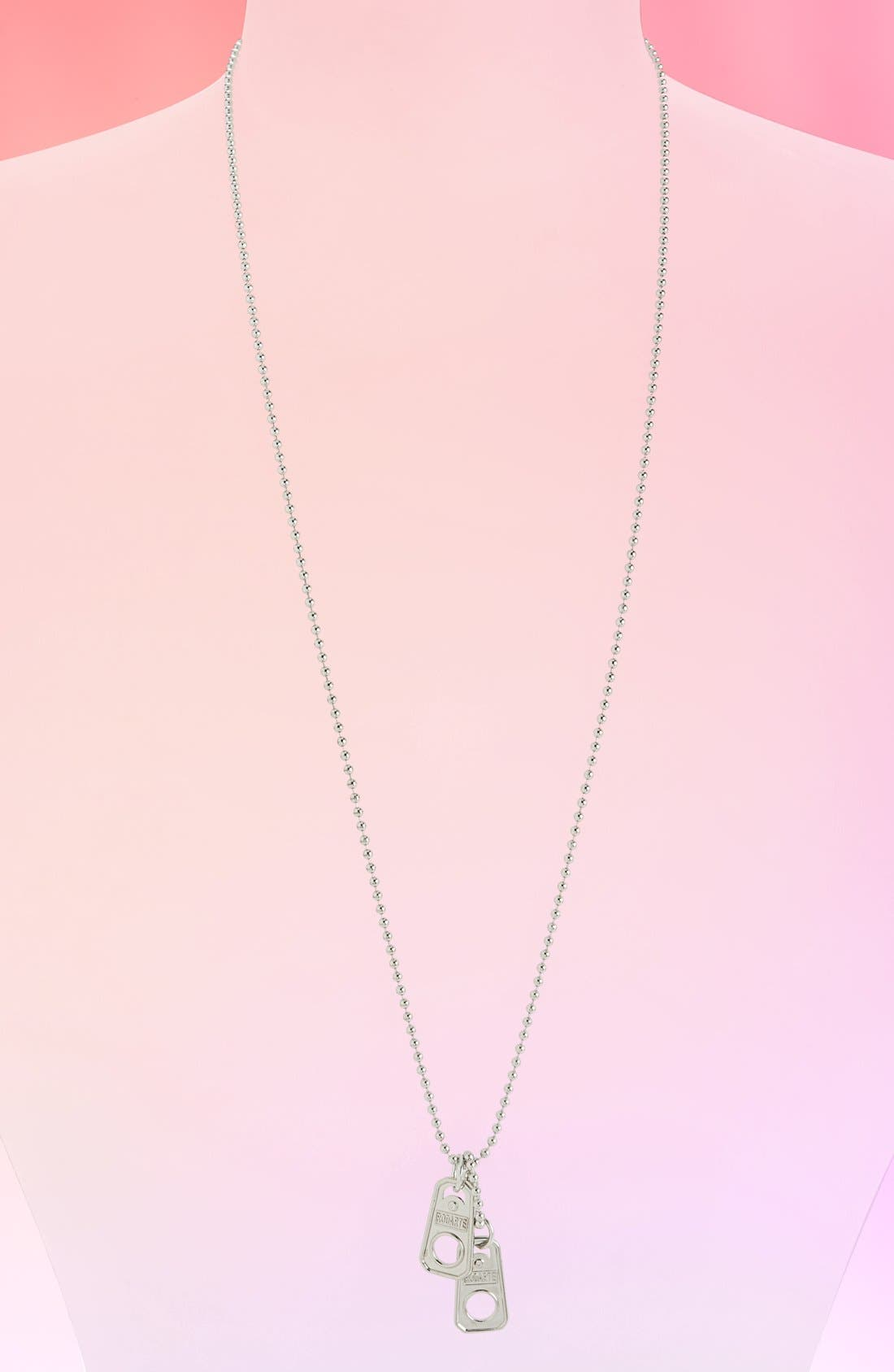 Ball Chain Necklace with Soda Can Pull Tab Pendants, Main, color, 040