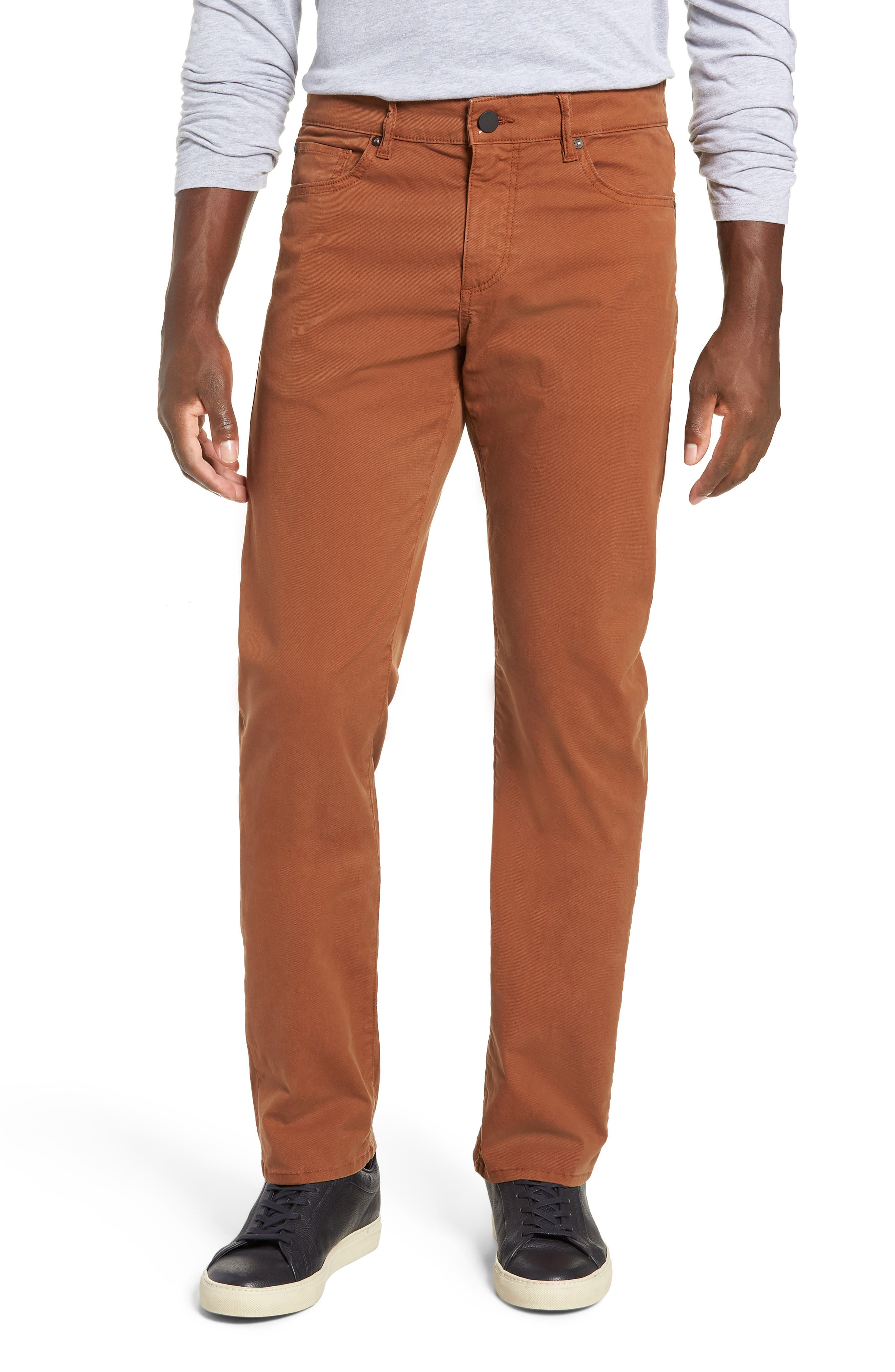 Russell Slim Straight Leg Jeans,                             Main thumbnail 1, color,                             TERRACOTTA