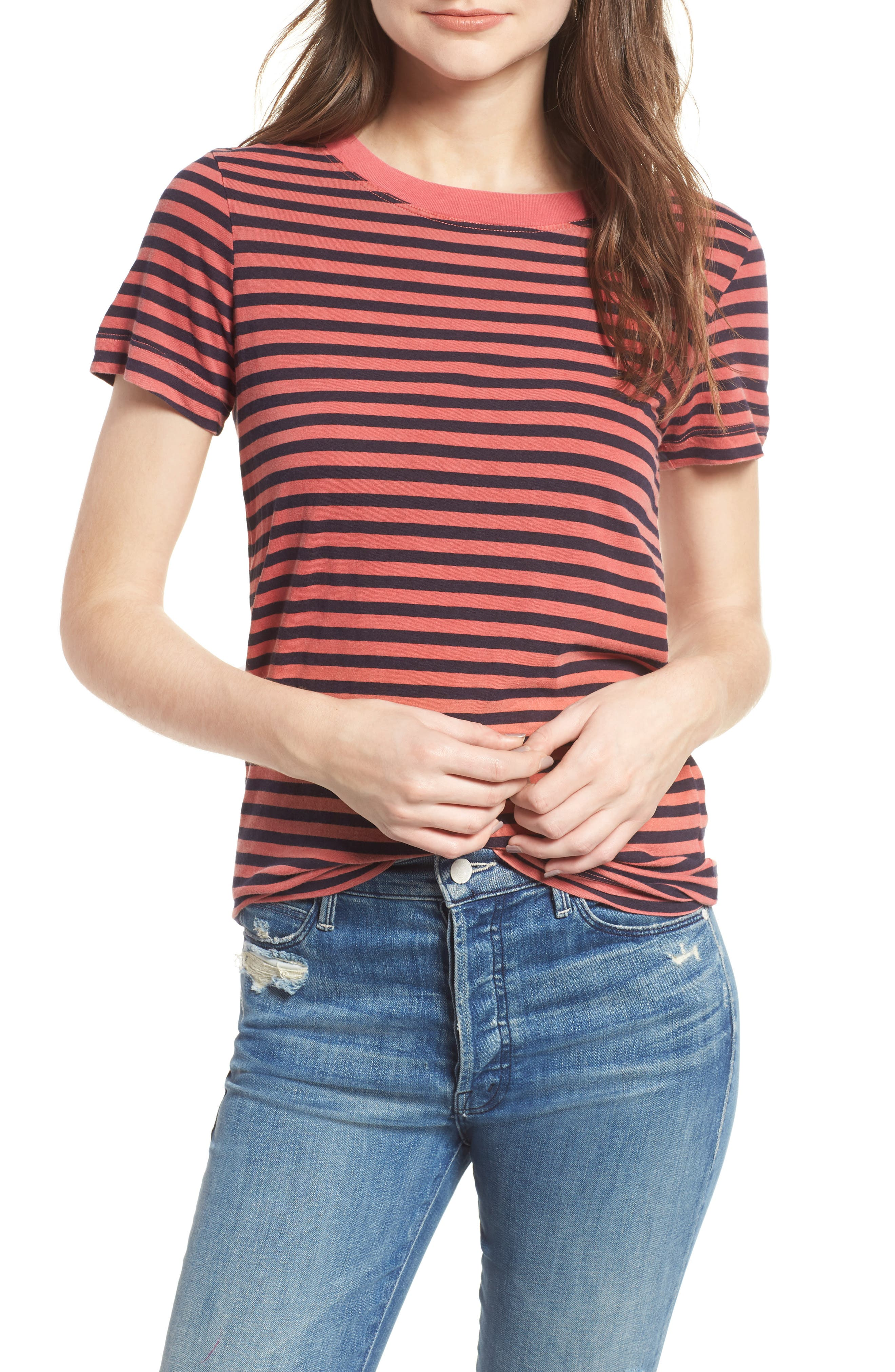 Stripe Cotton Boy Tee,                         Main,                         color,