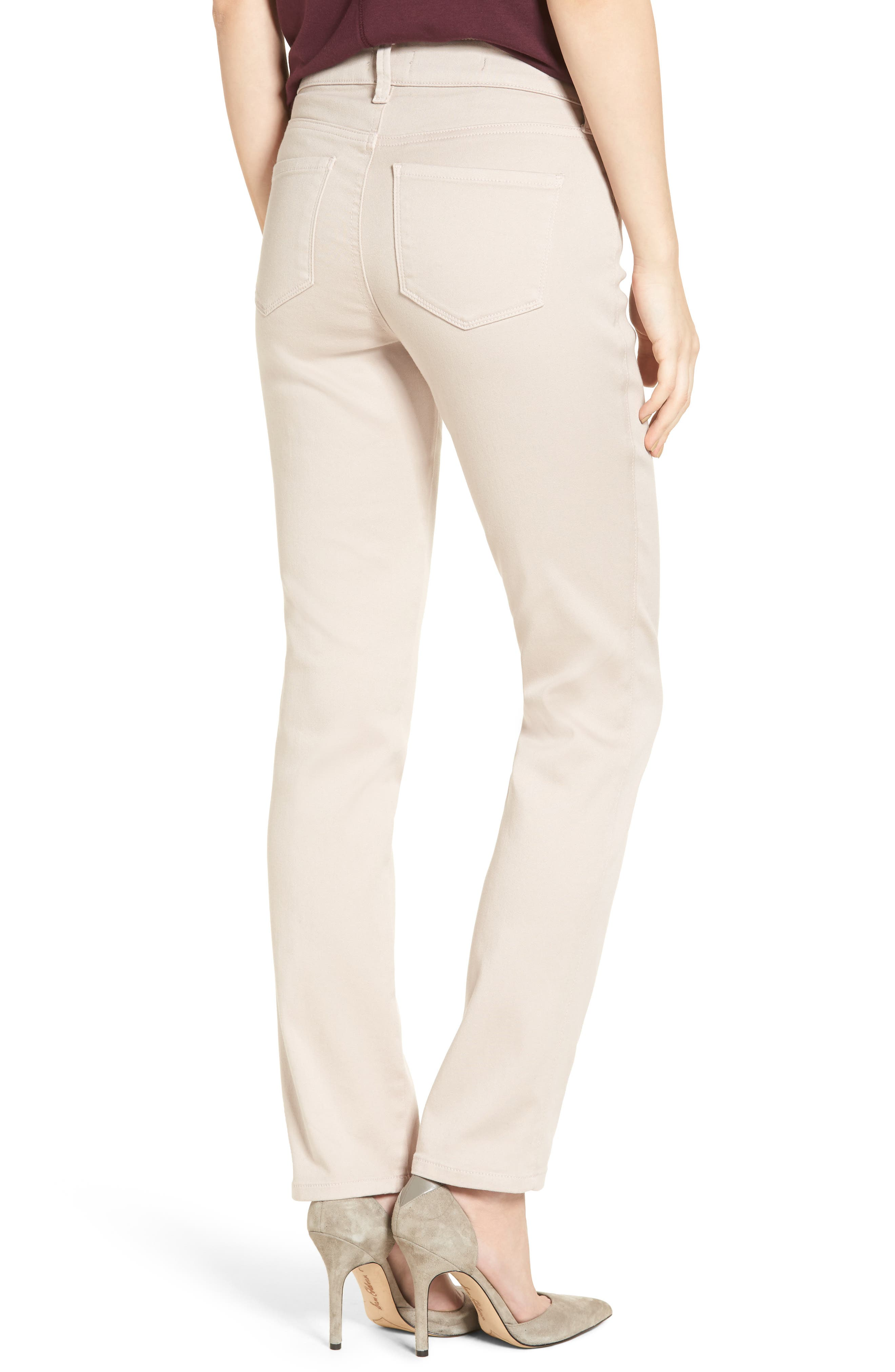 'Sheri' Stretch Twill Slim Leg Pants,                             Alternate thumbnail 6, color,
