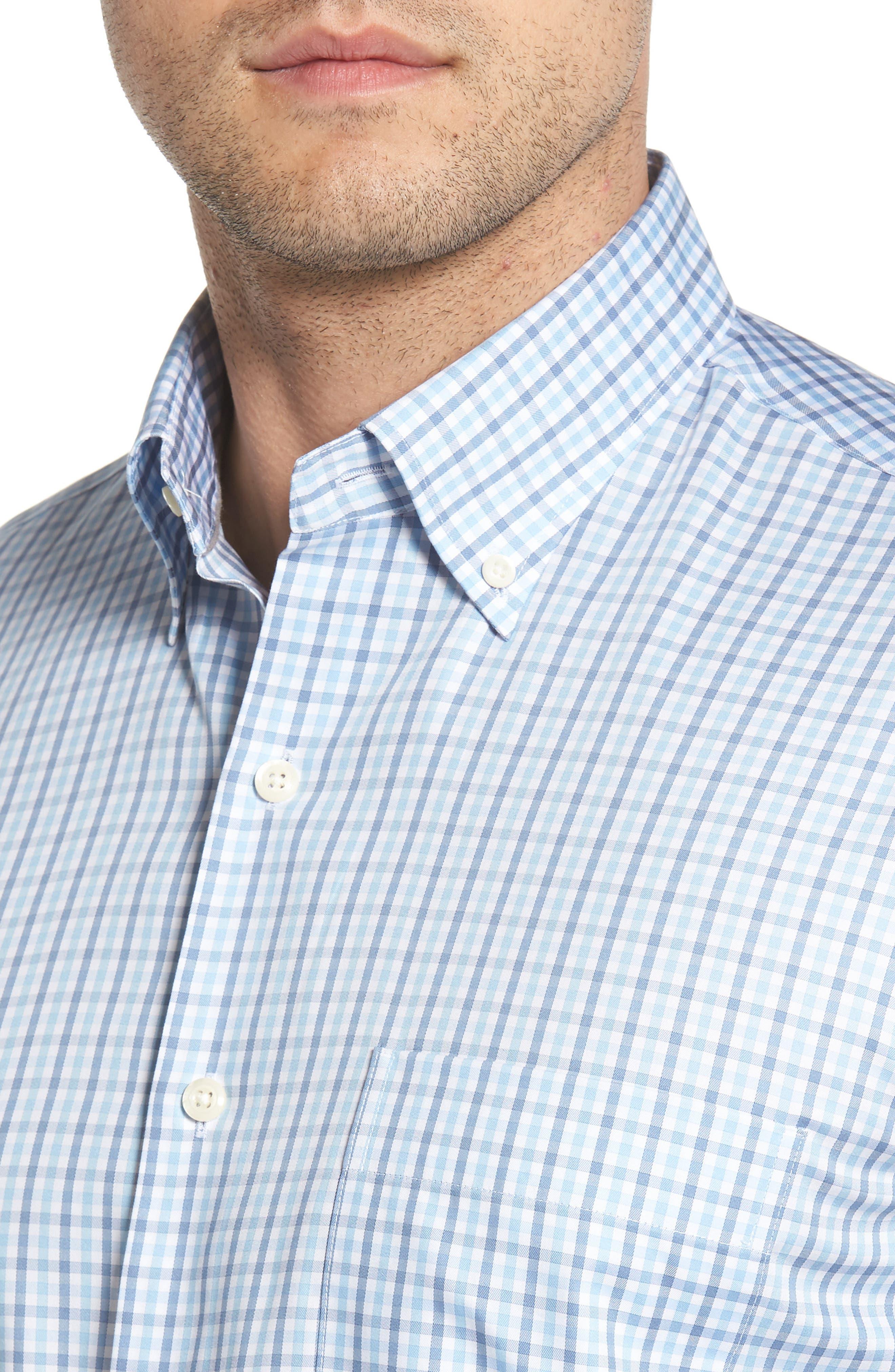 Lake City Regular Fit Tattersall Sport Shirt,                             Alternate thumbnail 4, color,                             COTTAGE BLUE