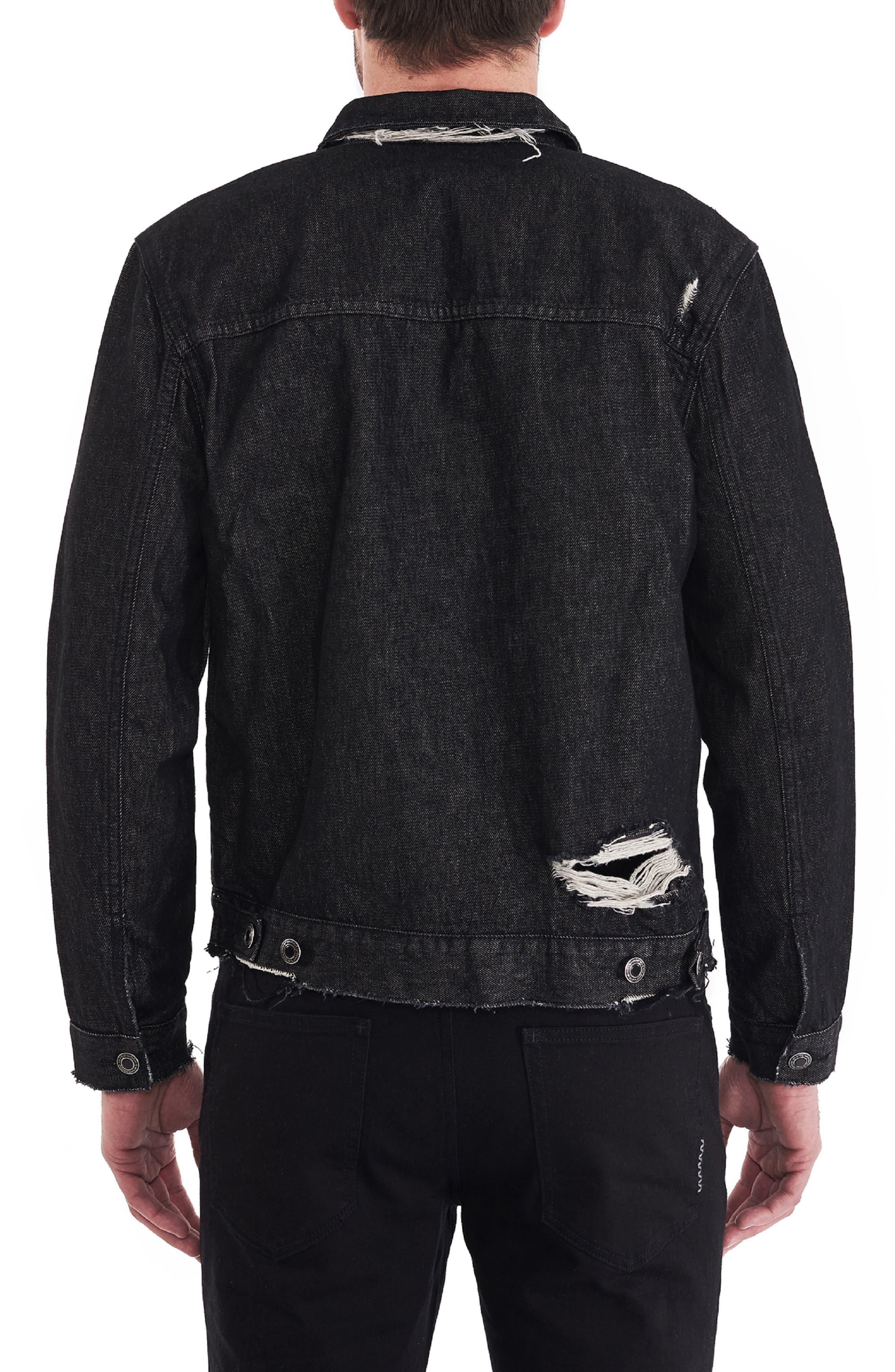 Type One Black Label Denim Jacket,                             Alternate thumbnail 2, color,                             BLACK LABEL