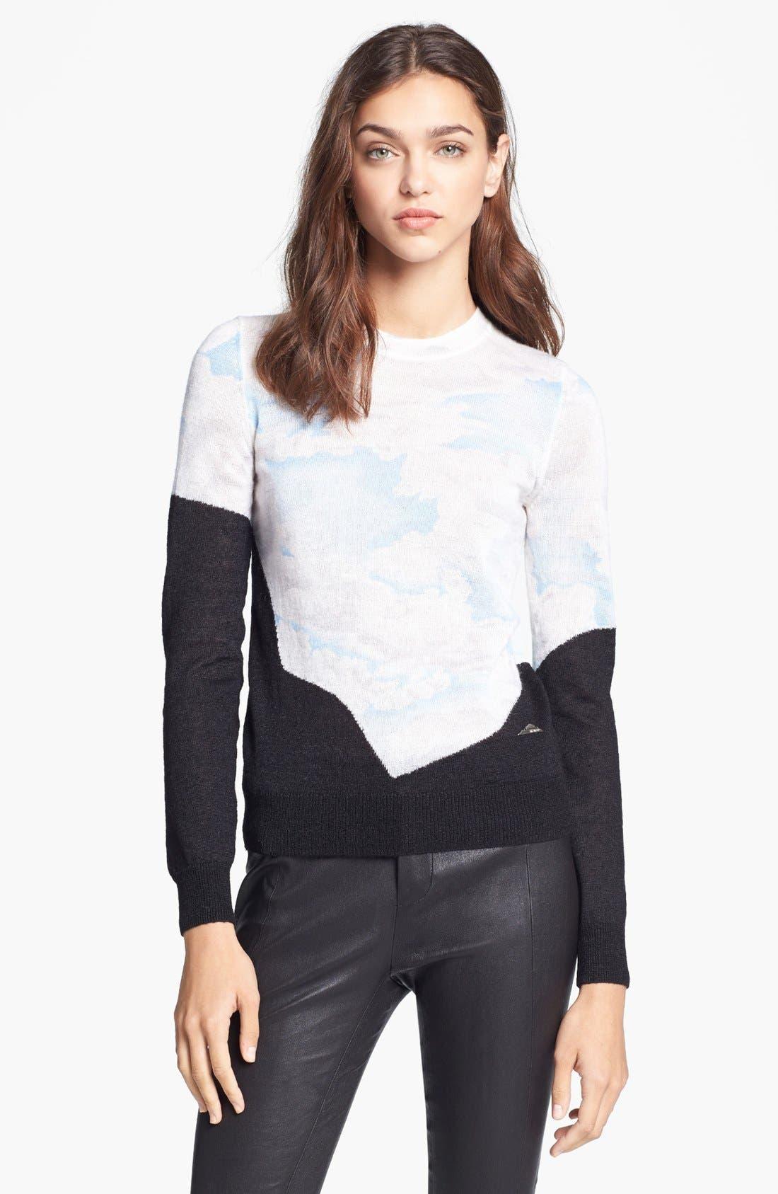 Cloud Print Sweater, Main, color, 450