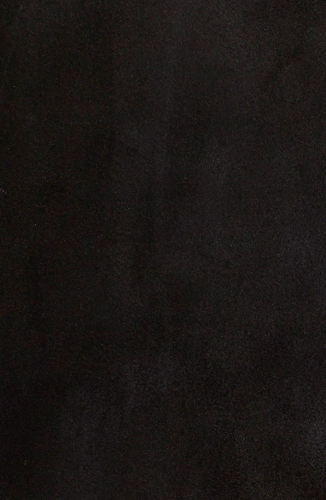 Long Genuine Toscana Shearling Coat,                             Alternate thumbnail 5, color,                             001
