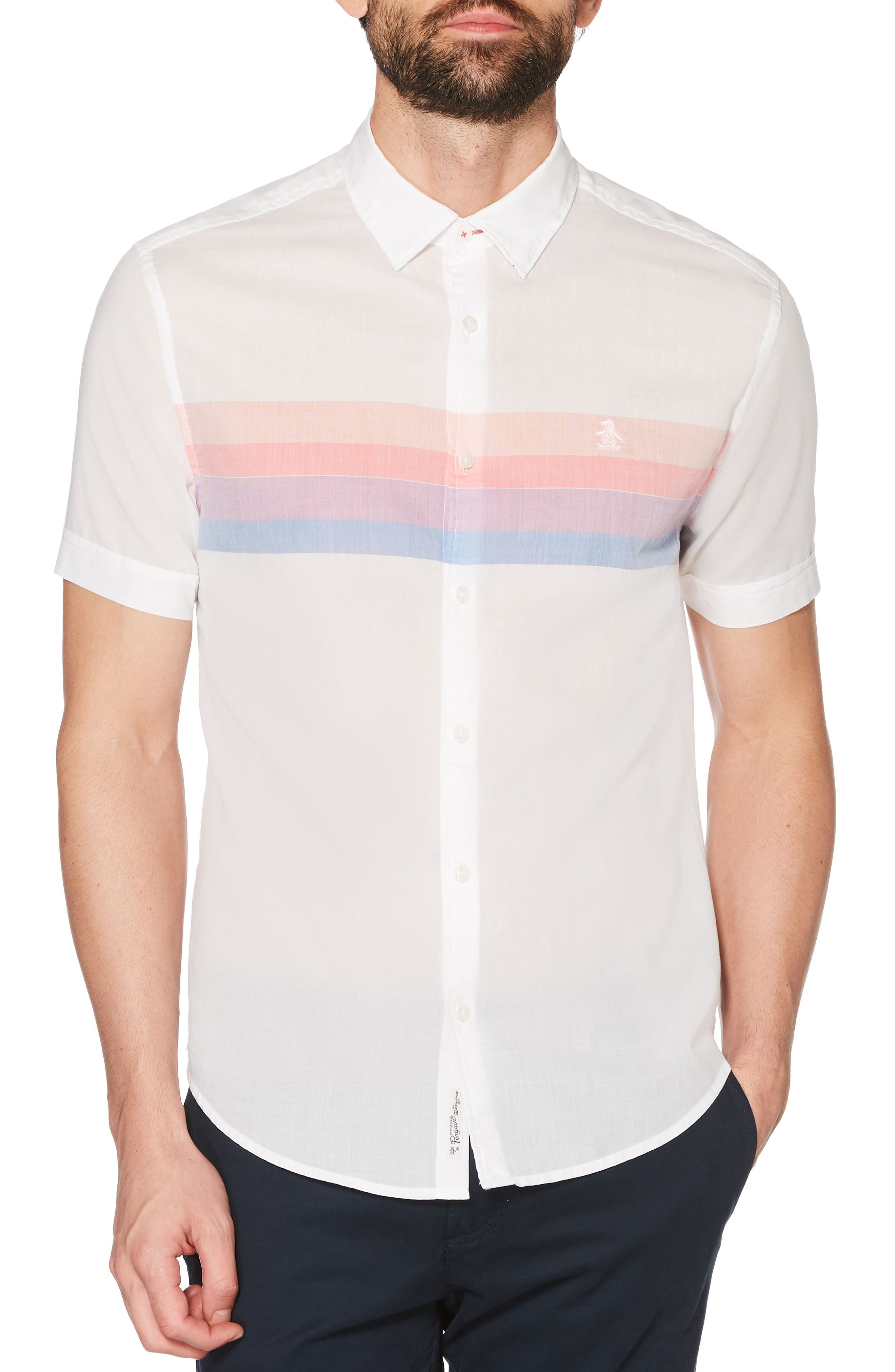 Engineered Stripe Shirt,                             Main thumbnail 1, color,                             118