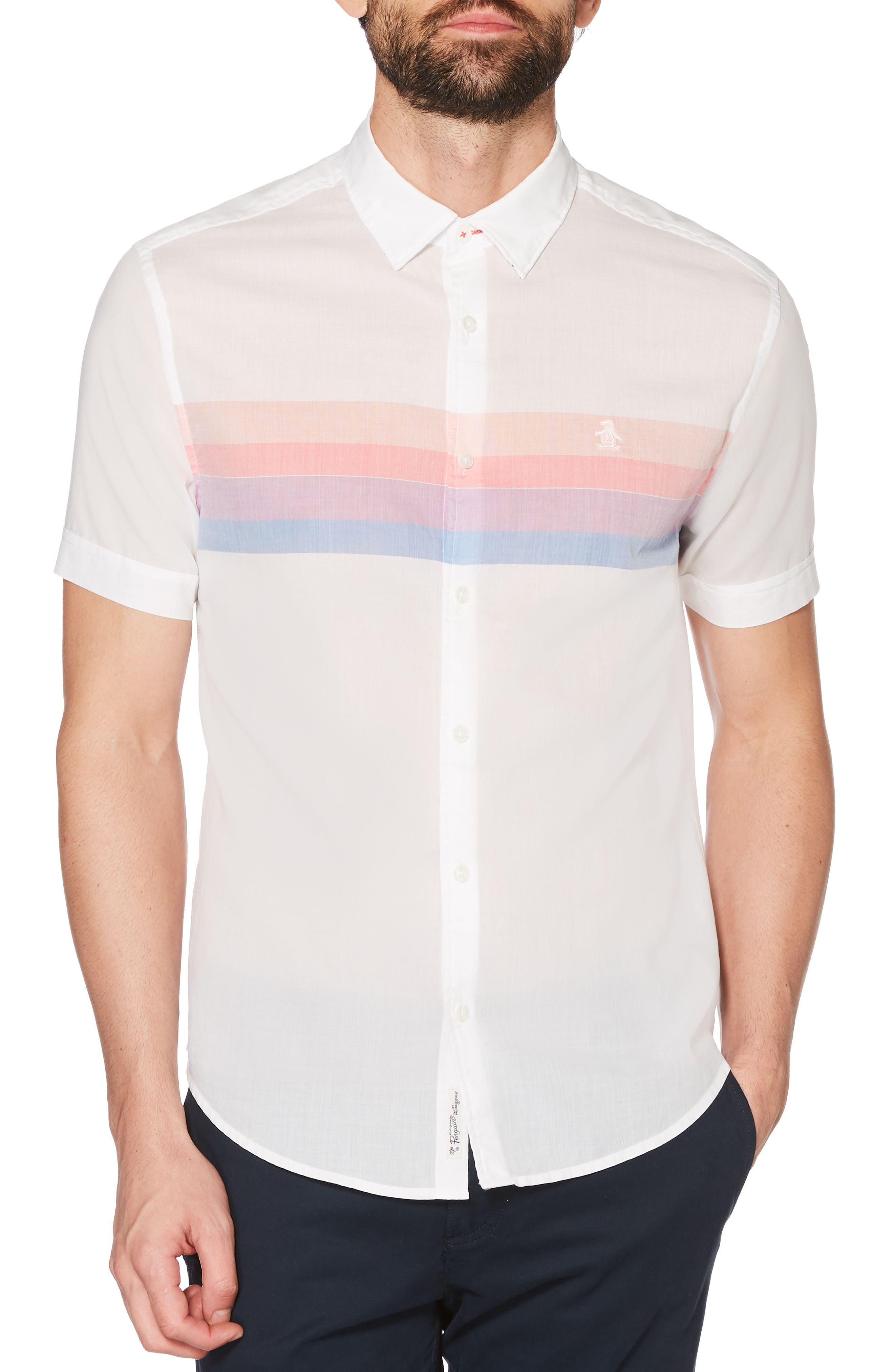 Engineered Stripe Shirt,                         Main,                         color, 118