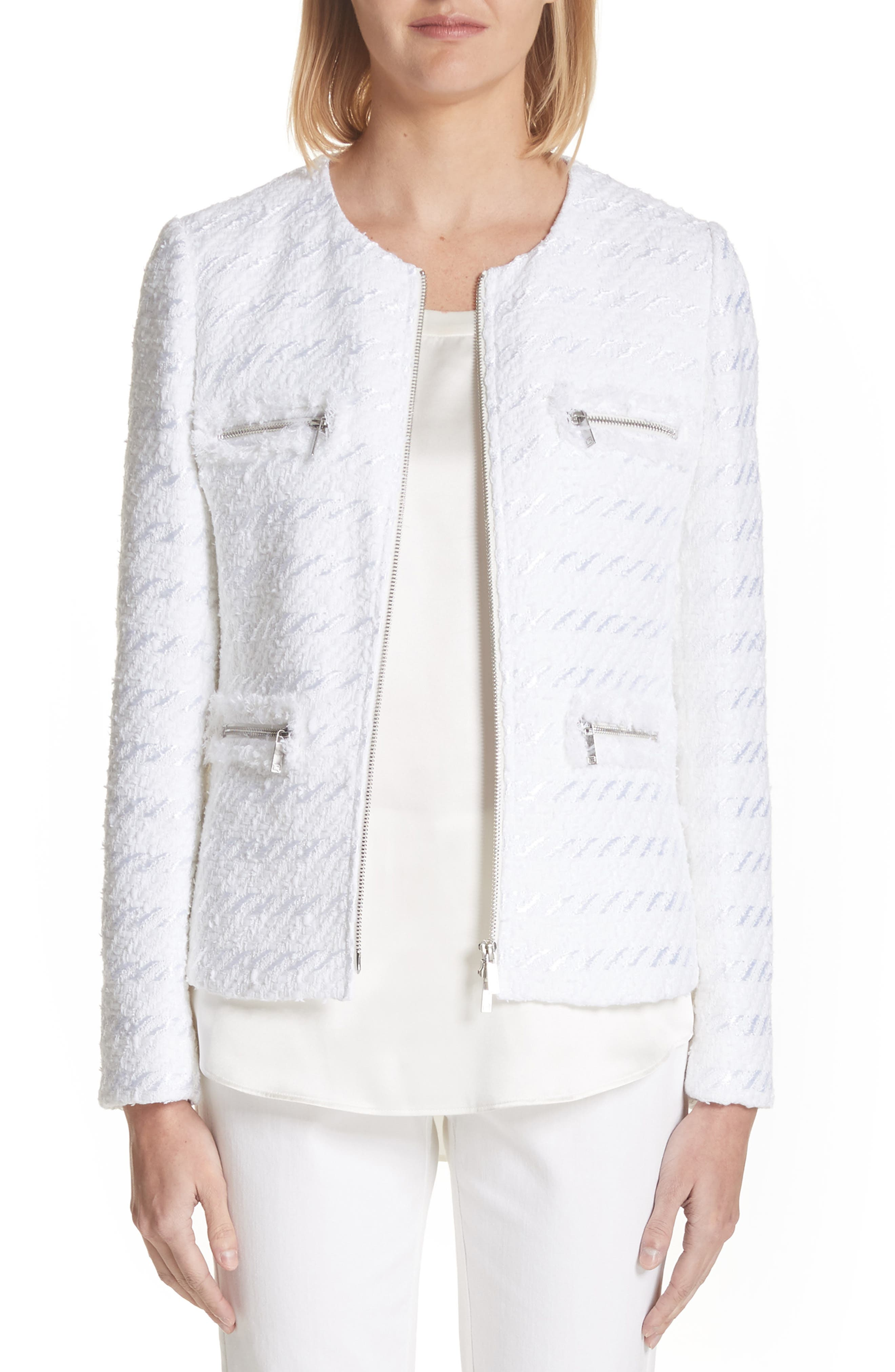 Emelyn Jacquard Jacket,                         Main,                         color, 100