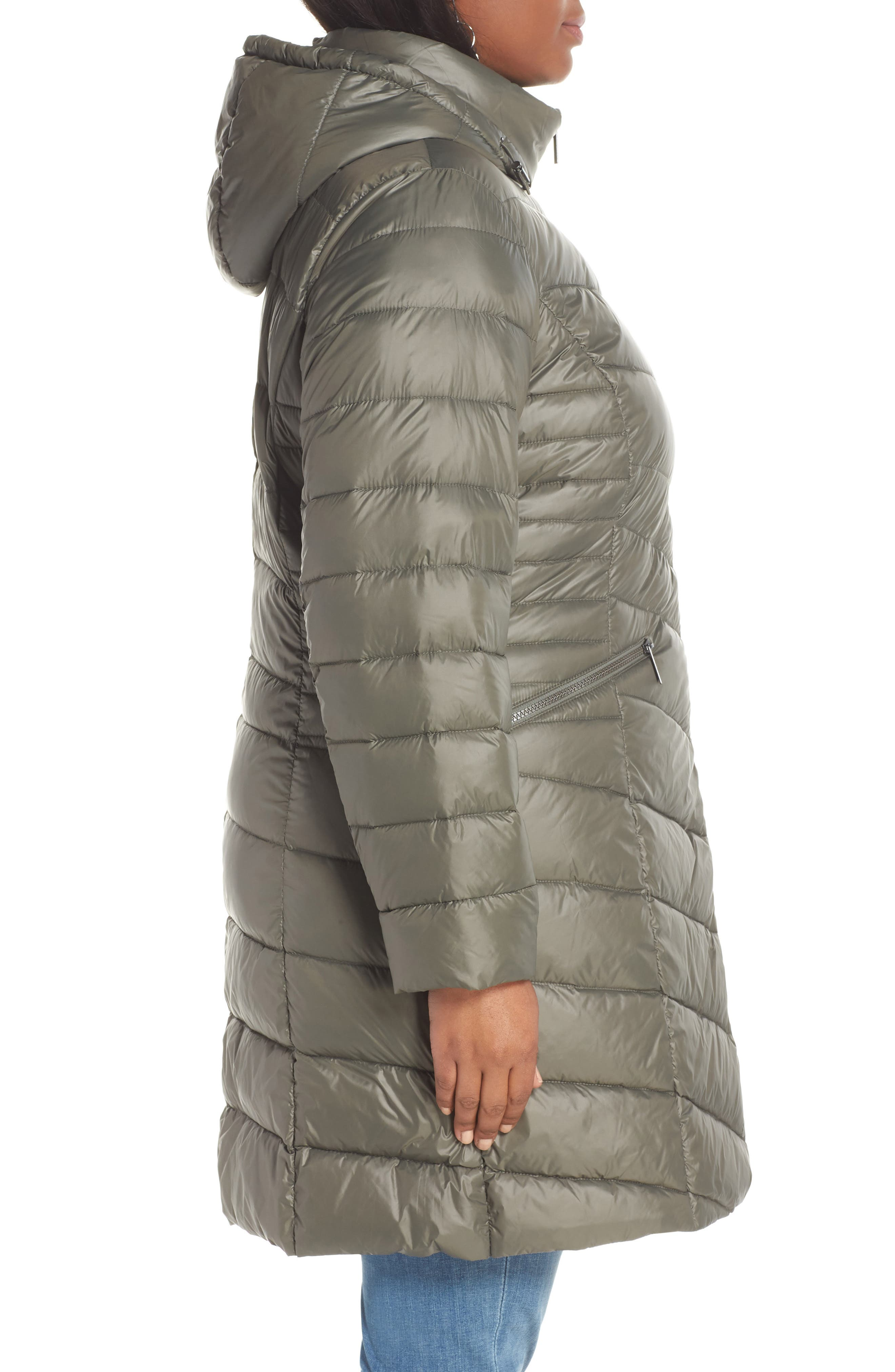 HALOGEN<SUP>®</SUP>,                             Hooded Puffer Jacket,                             Alternate thumbnail 3, color,                             030