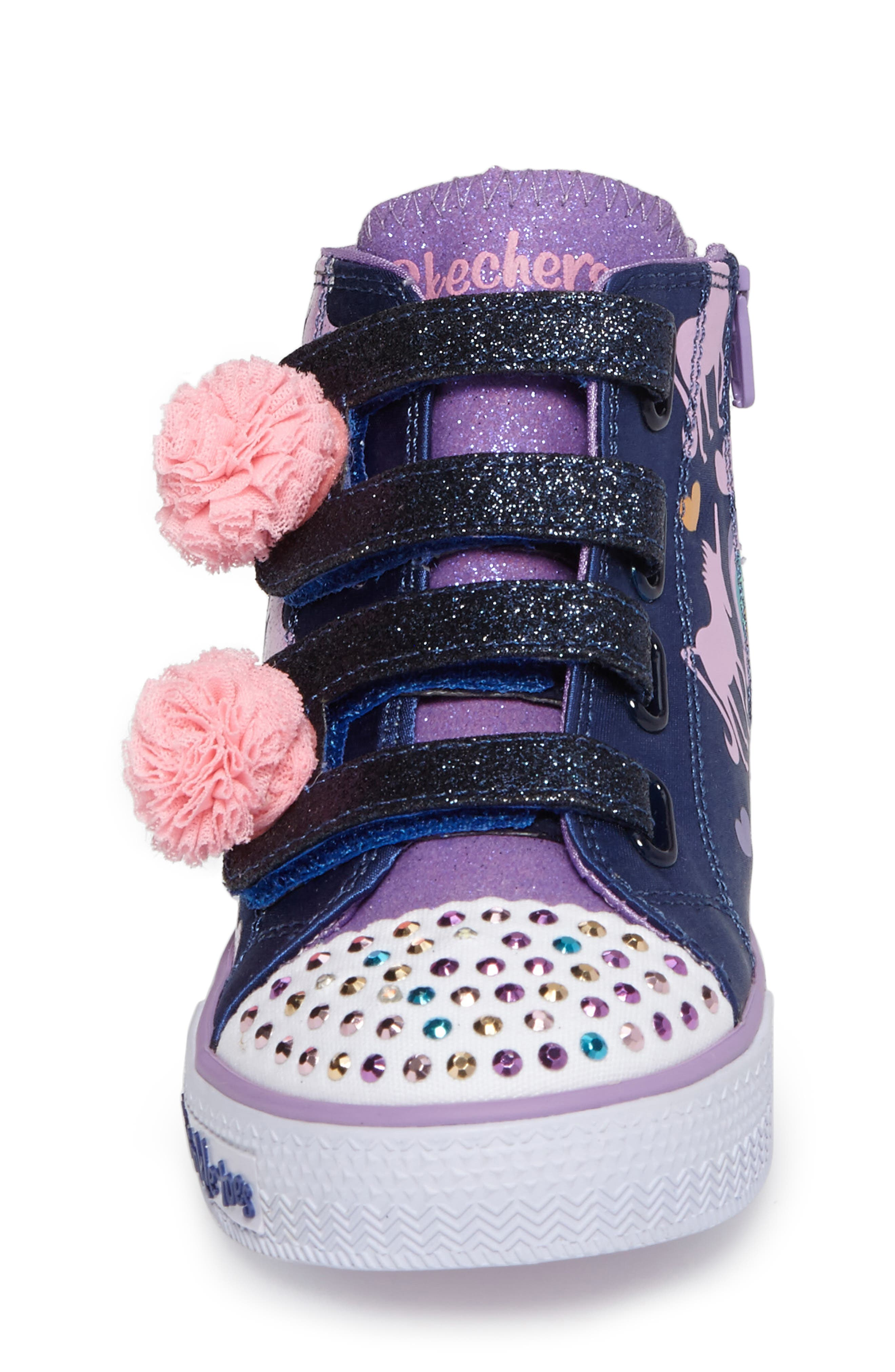 Twinkle Toes Shuffles High Top Sneaker,                             Alternate thumbnail 4, color,                             400