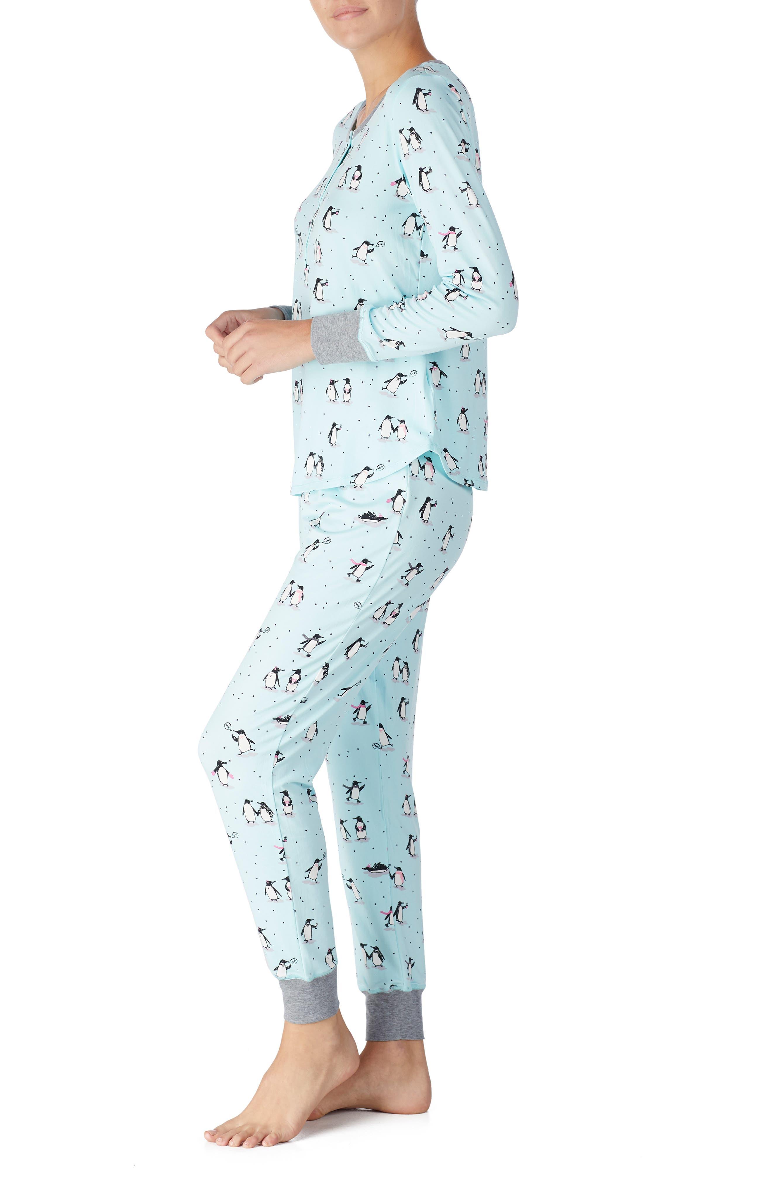 jogger long pajamas,                             Alternate thumbnail 3, color,                             PENGUINS