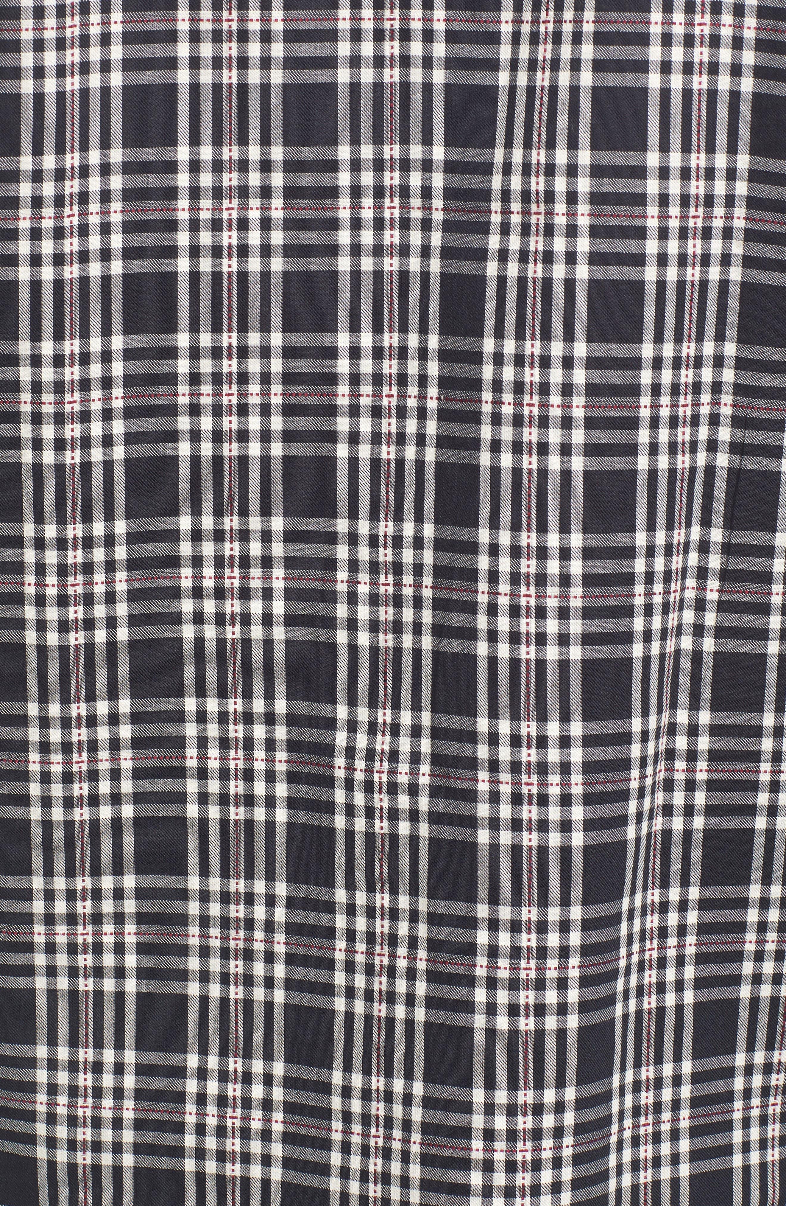 Classic Fit Plaid Sport Shirt,                             Alternate thumbnail 5, color,                             001
