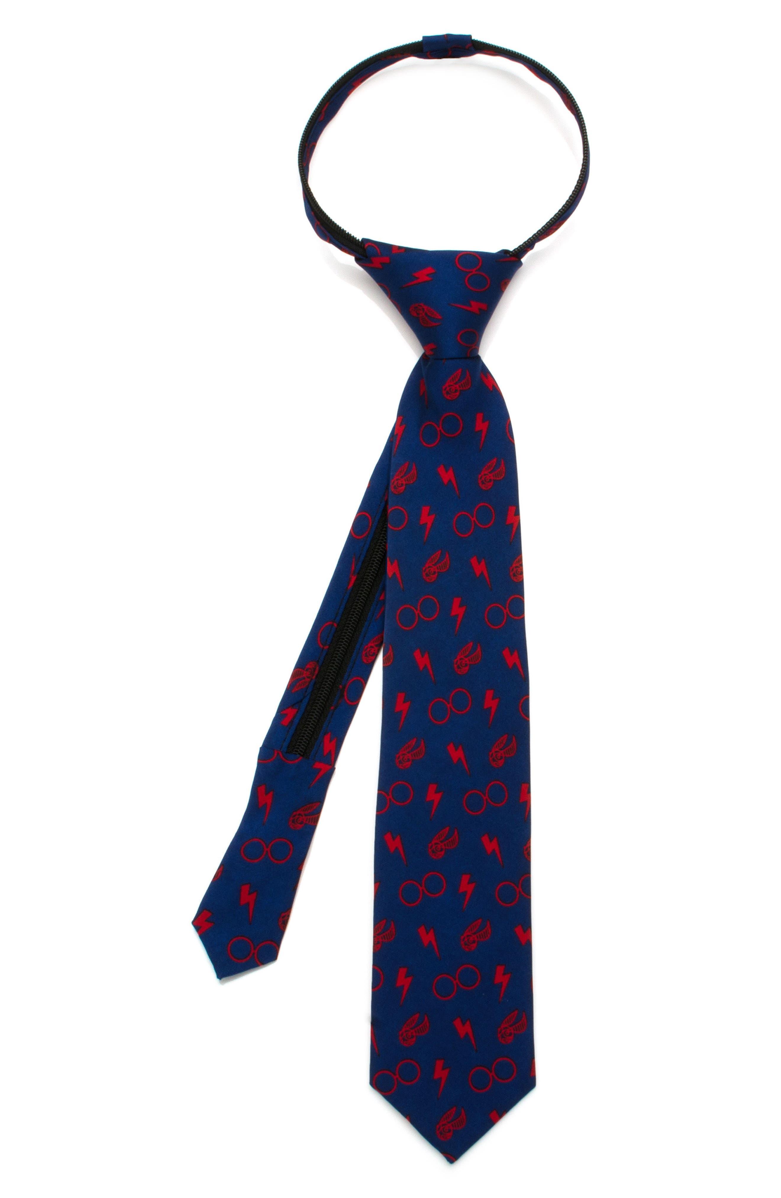 Harry Potter - Icons Zip Silk Tie,                             Main thumbnail 1, color,                             400