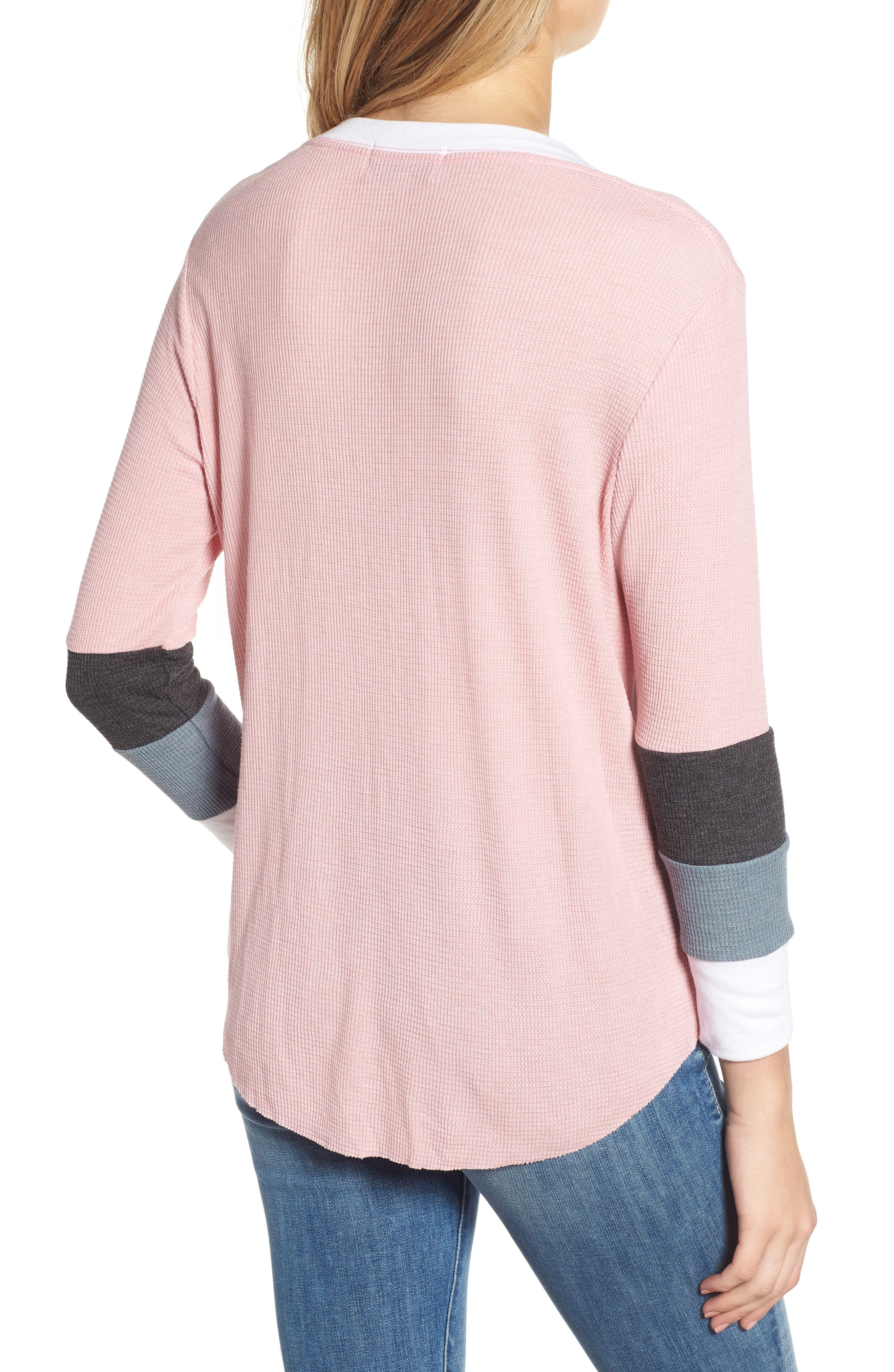 Leroy Colorblock Thermal Tee,                             Alternate thumbnail 2, color,