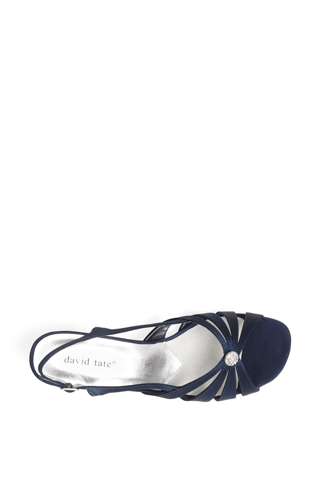 'Rosette' Sandal,                             Alternate thumbnail 3, color,                             NAVY