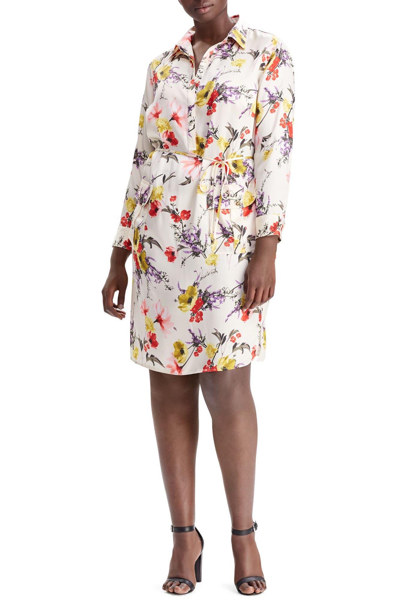 Ruffle Sleeve Crepe Dress,                             Alternate thumbnail 4, color,