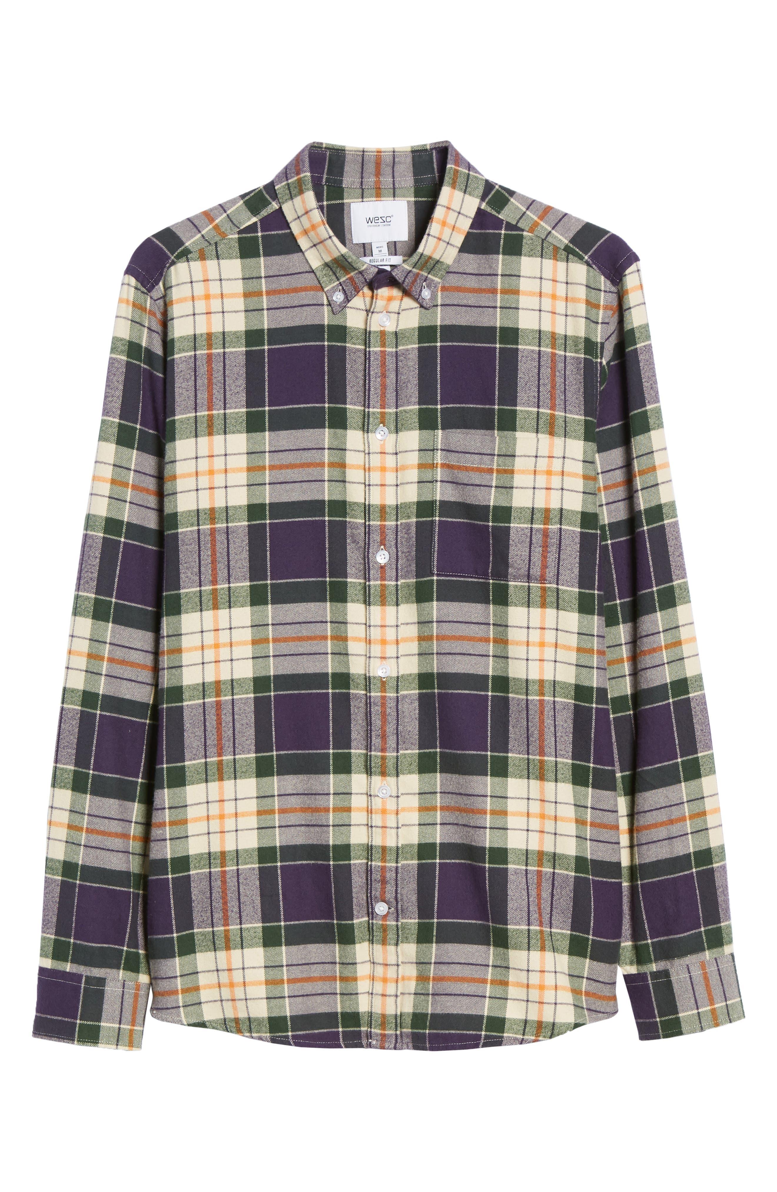 Ovavi Plaid Flannel Shirt,                             Alternate thumbnail 5, color,                             542