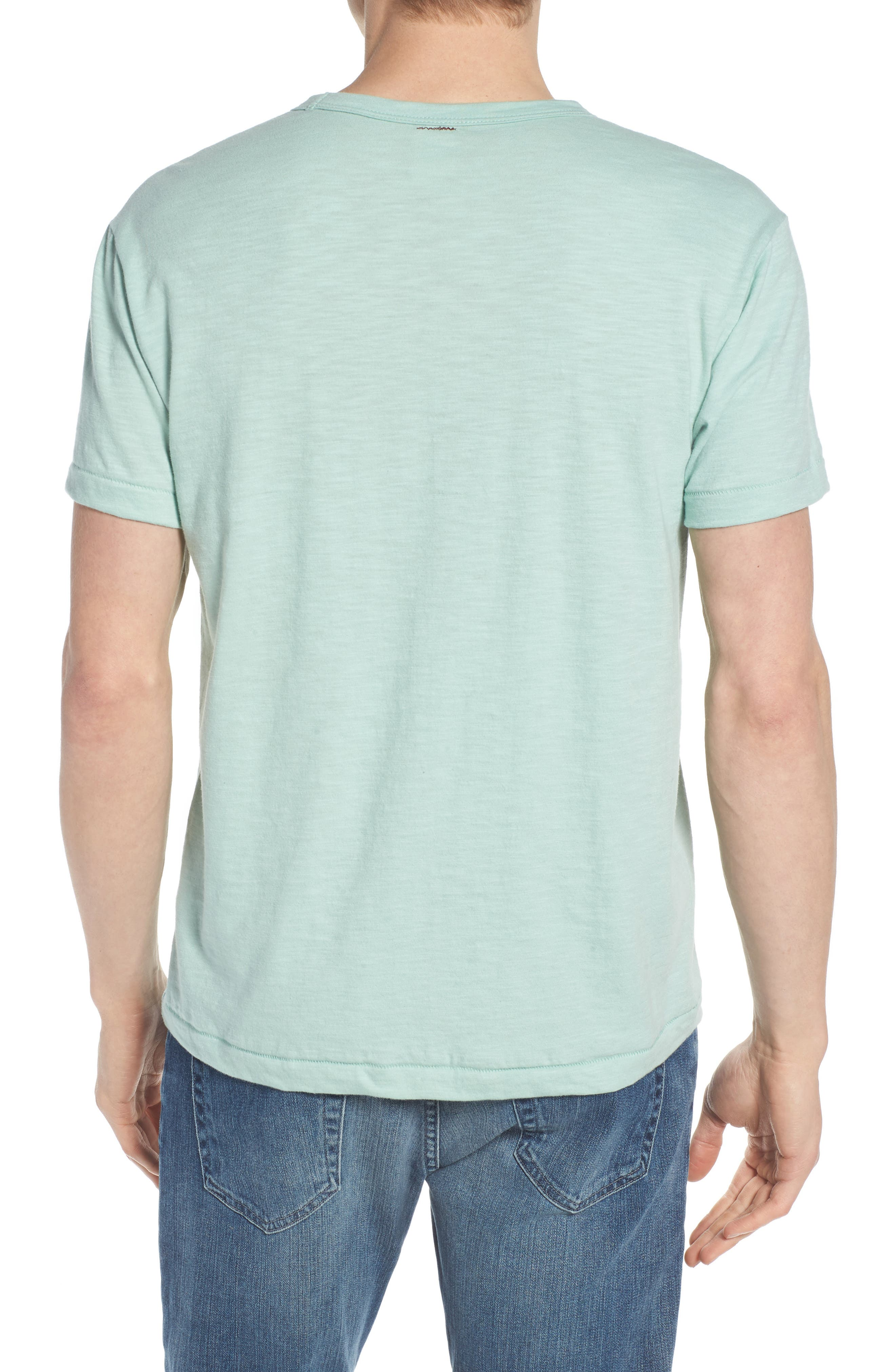 + Champion Crewneck T-Shirt,                             Alternate thumbnail 2, color,                             VINTAGE AQUA