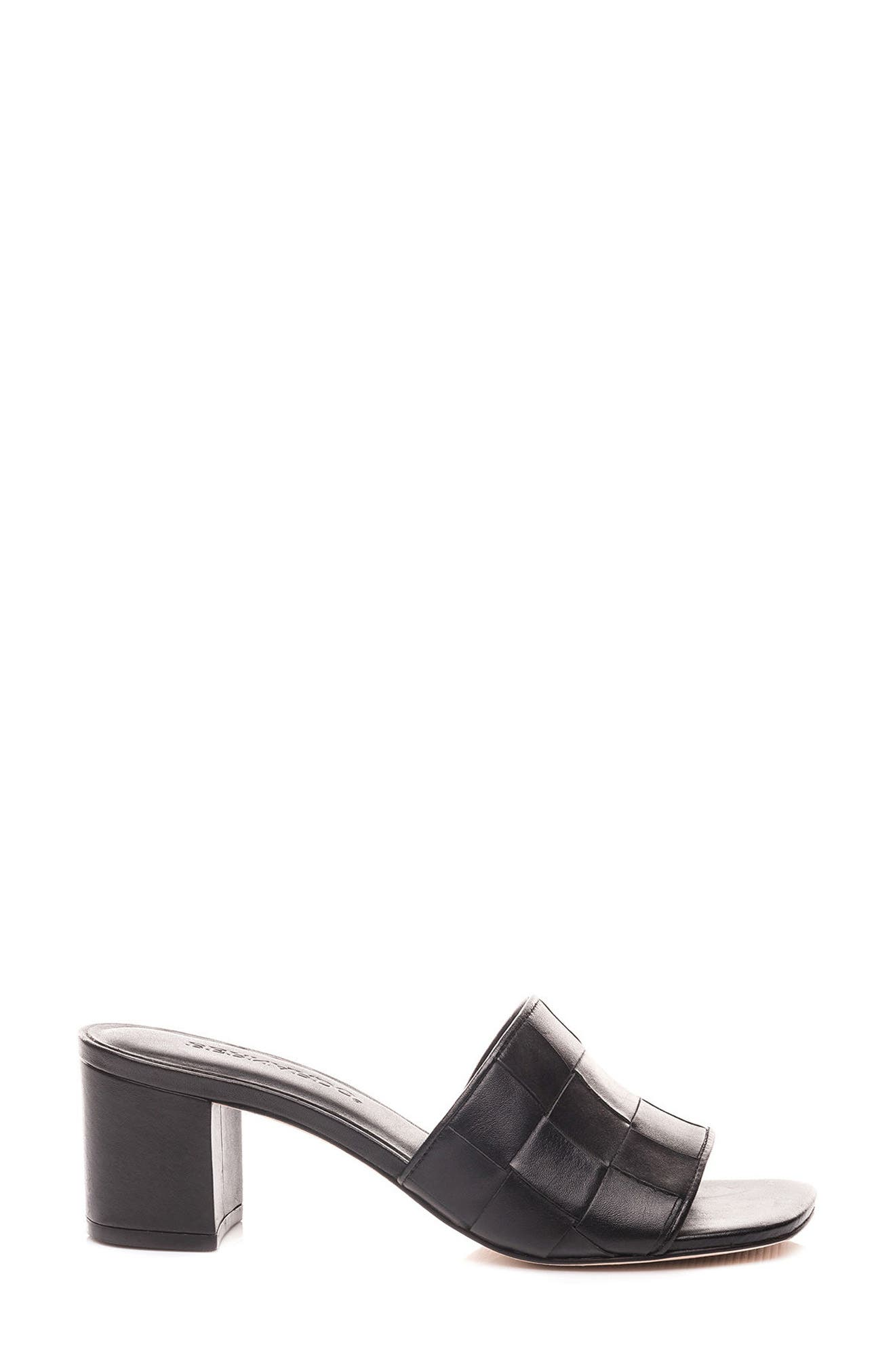 Bernardo Bridget Block Heel Sandal,                             Alternate thumbnail 3, color,                             001