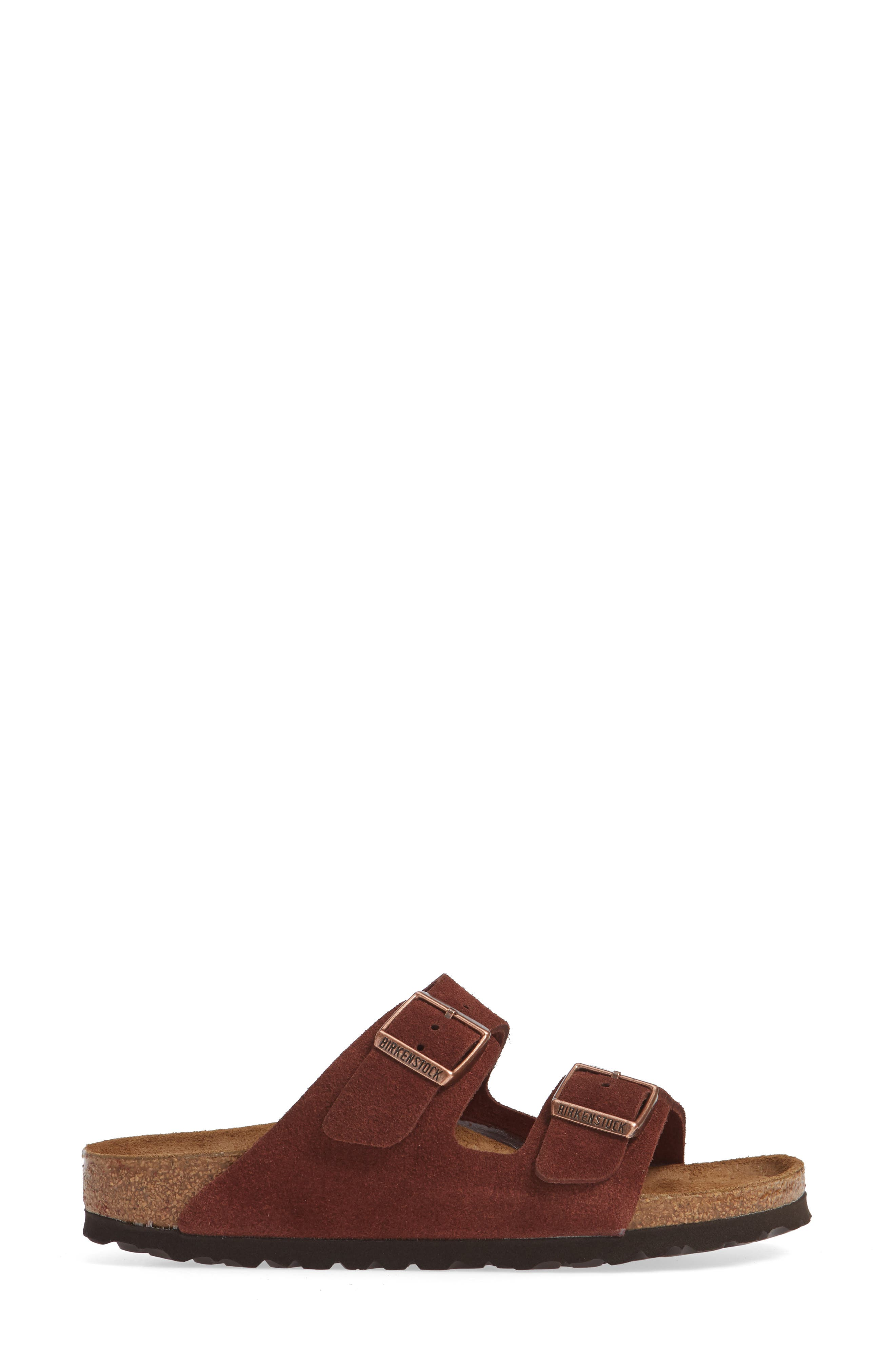 'Arizona' Soft Footbed Suede Sandal,                             Alternate thumbnail 3, color,                             PORT SUEDE