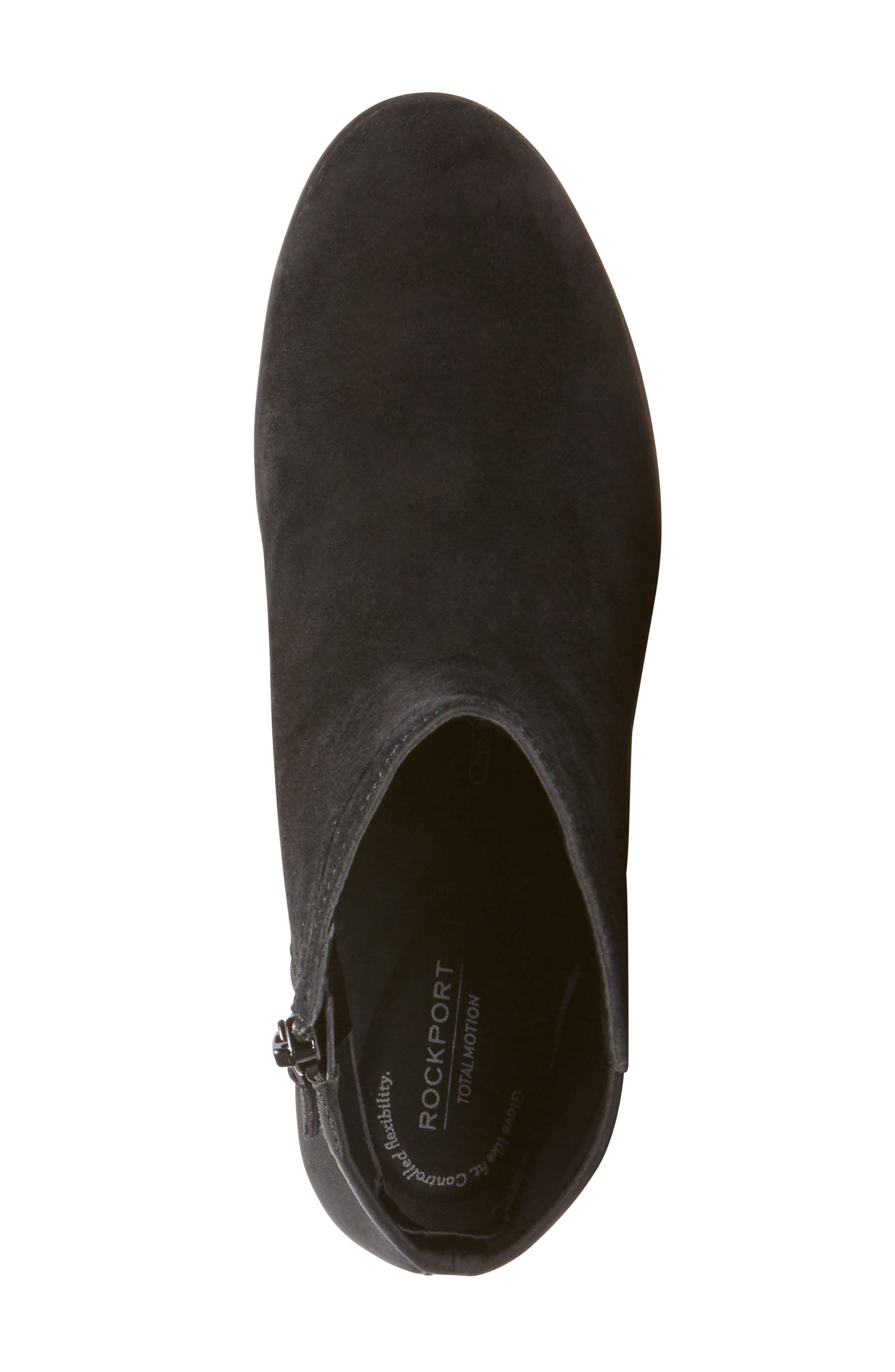 Chaya Bootie,                             Alternate thumbnail 5, color,                             BLACK SUEDE