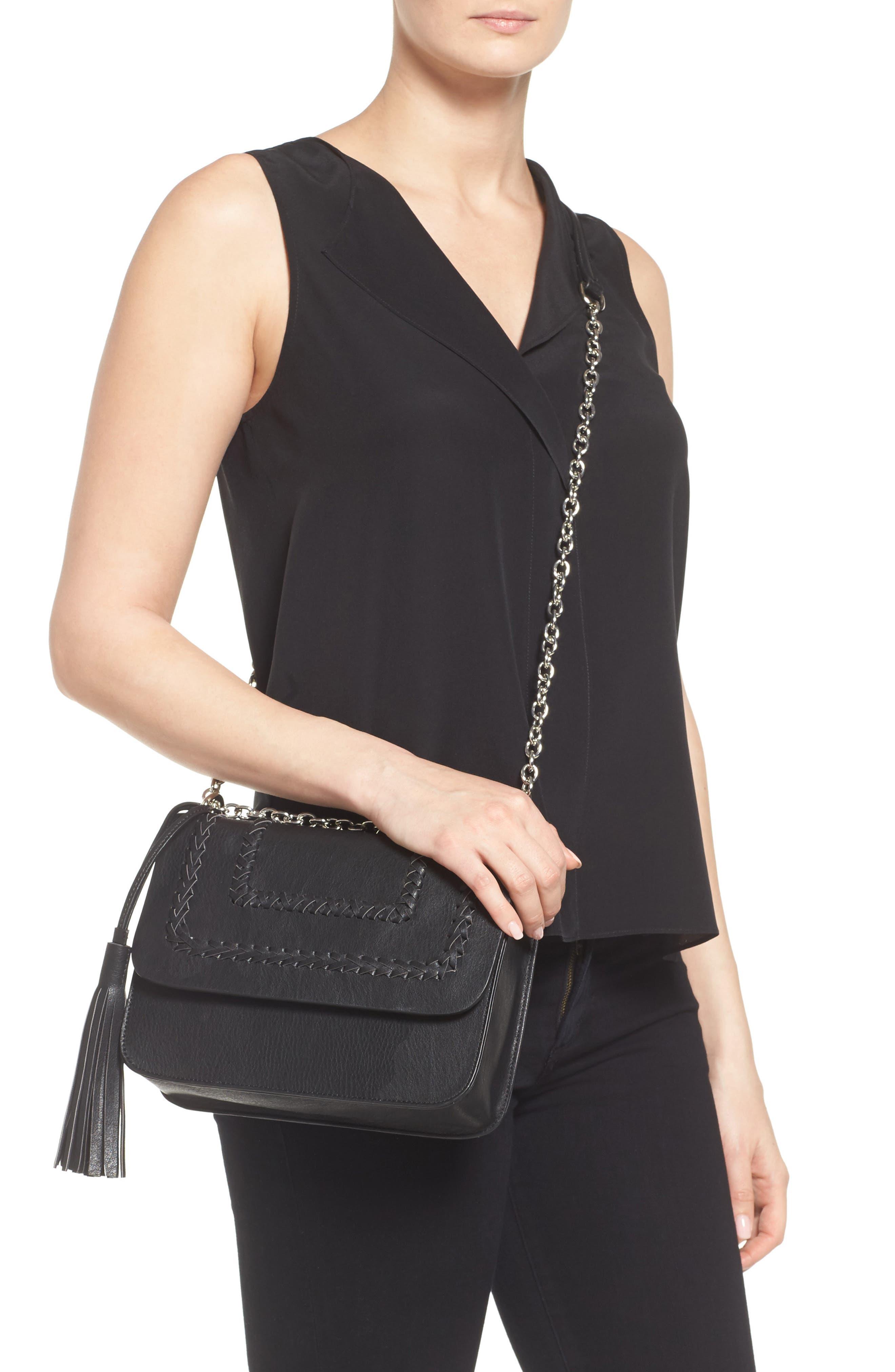 Chace Faux Leather Shoulder Bag,                             Alternate thumbnail 2, color,                             001