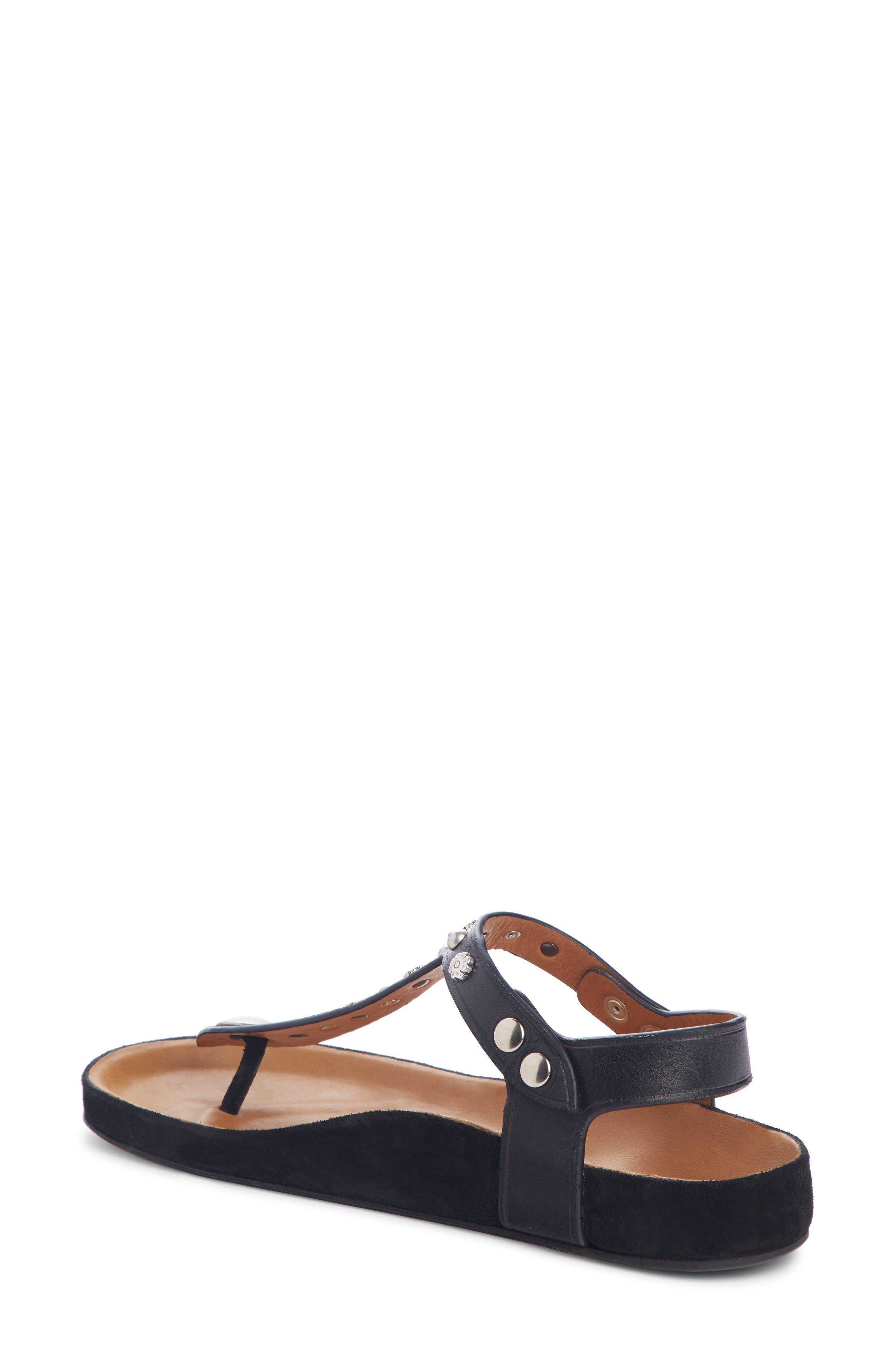 Enore Studded Sandal,                             Alternate thumbnail 2, color,                             BLACK