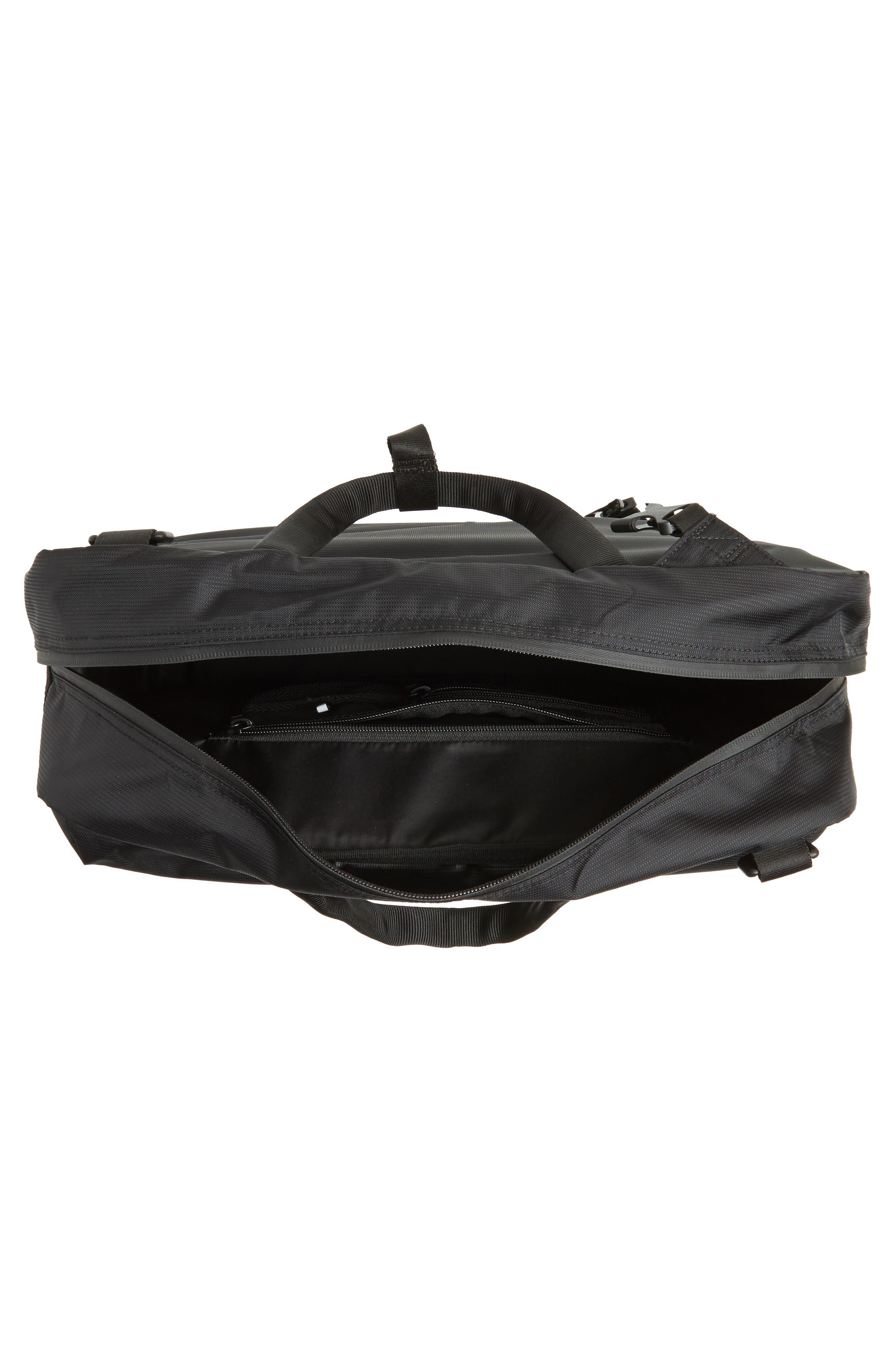 Britannia Convertible Messenger Bag,                             Alternate thumbnail 4, color,                             BLACK